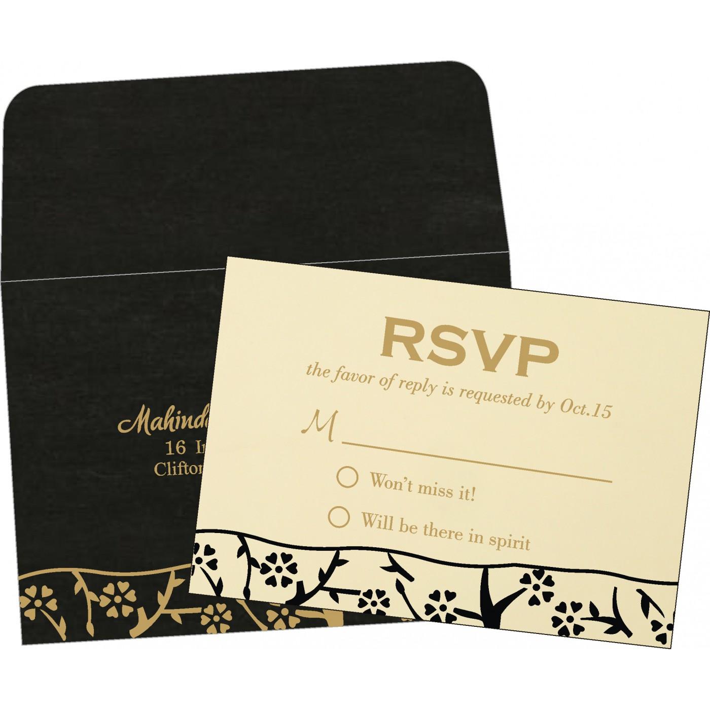 RSVP Cards : CRSVP-8216K - IndianWeddingCards