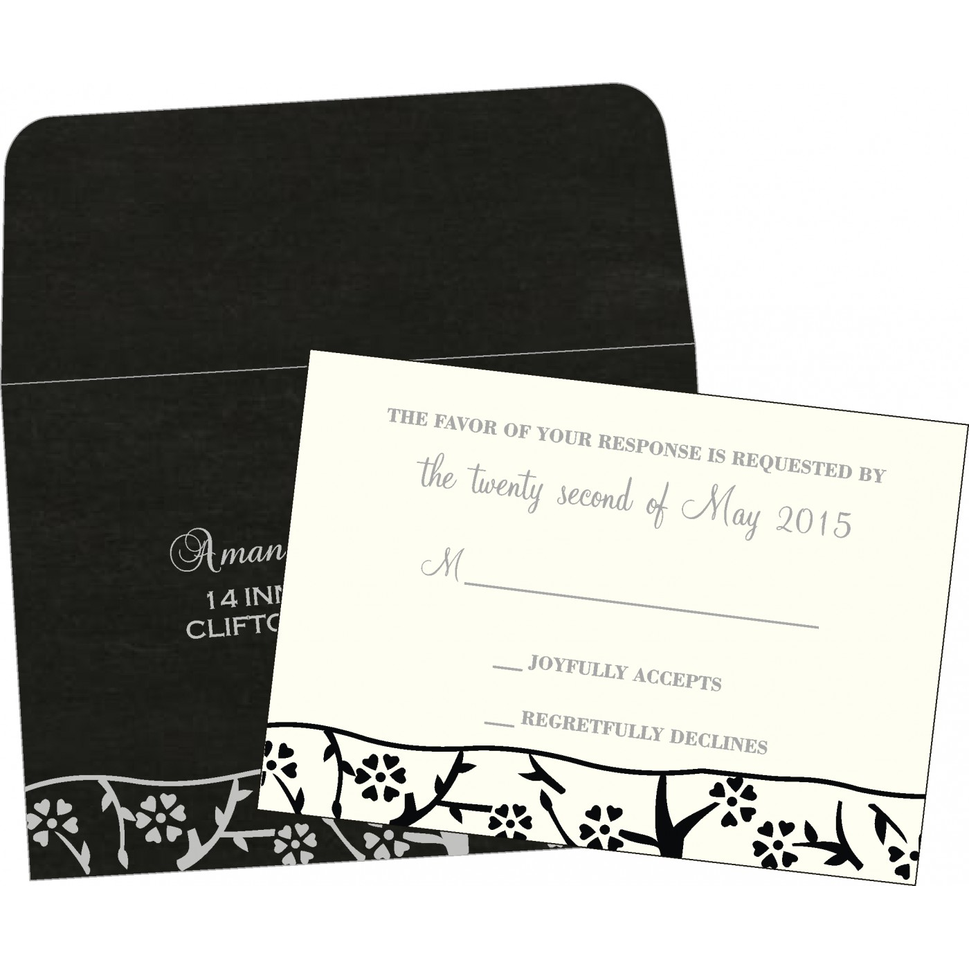 RSVP Cards : CRSVP-8216N - IndianWeddingCards