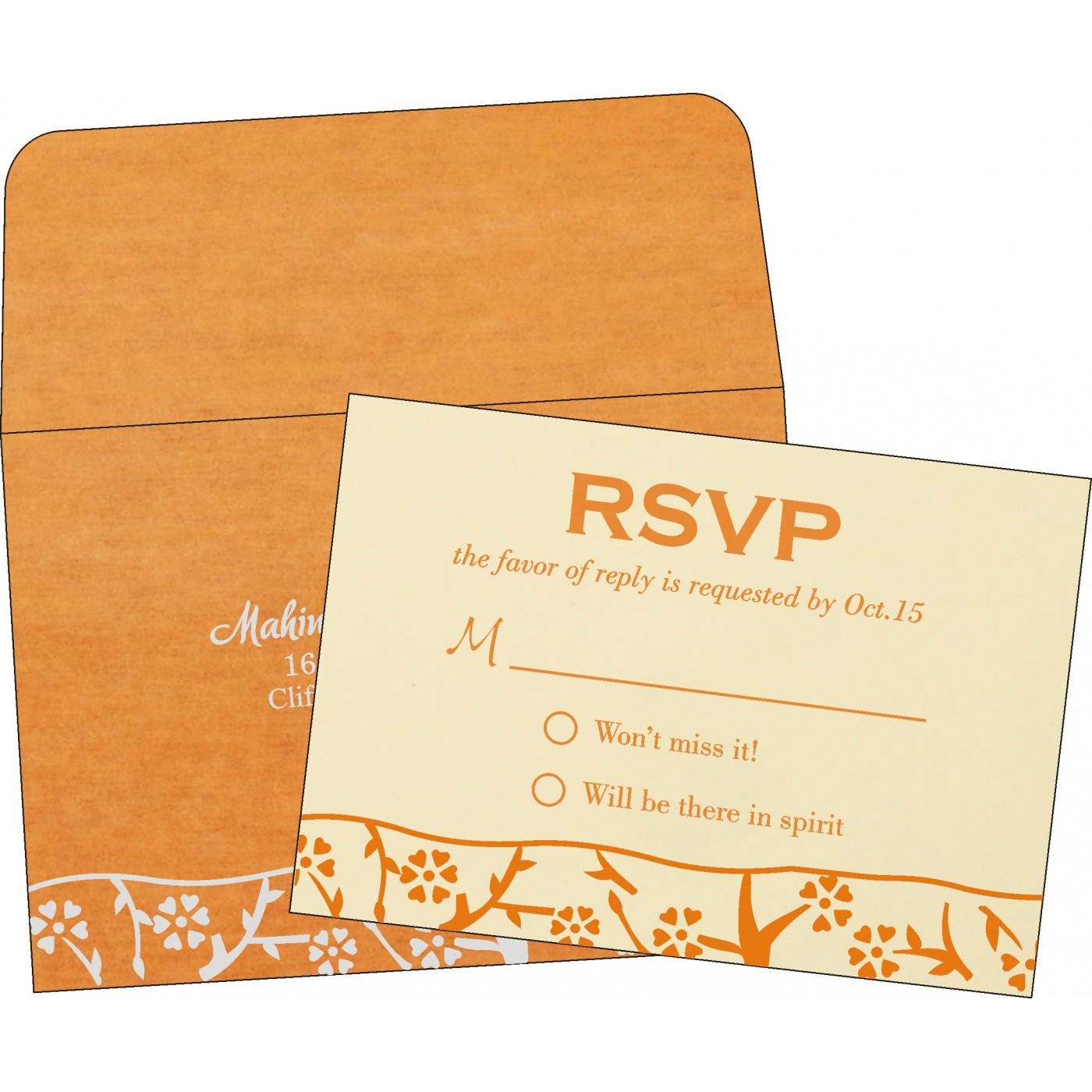 RSVP Cards : CRSVP-8216O - IndianWeddingCards