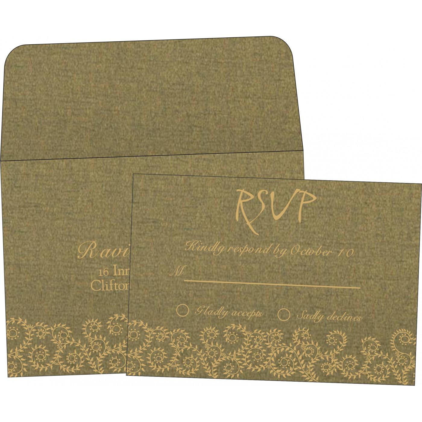 RSVP Cards : CRSVP-8217H - IndianWeddingCards