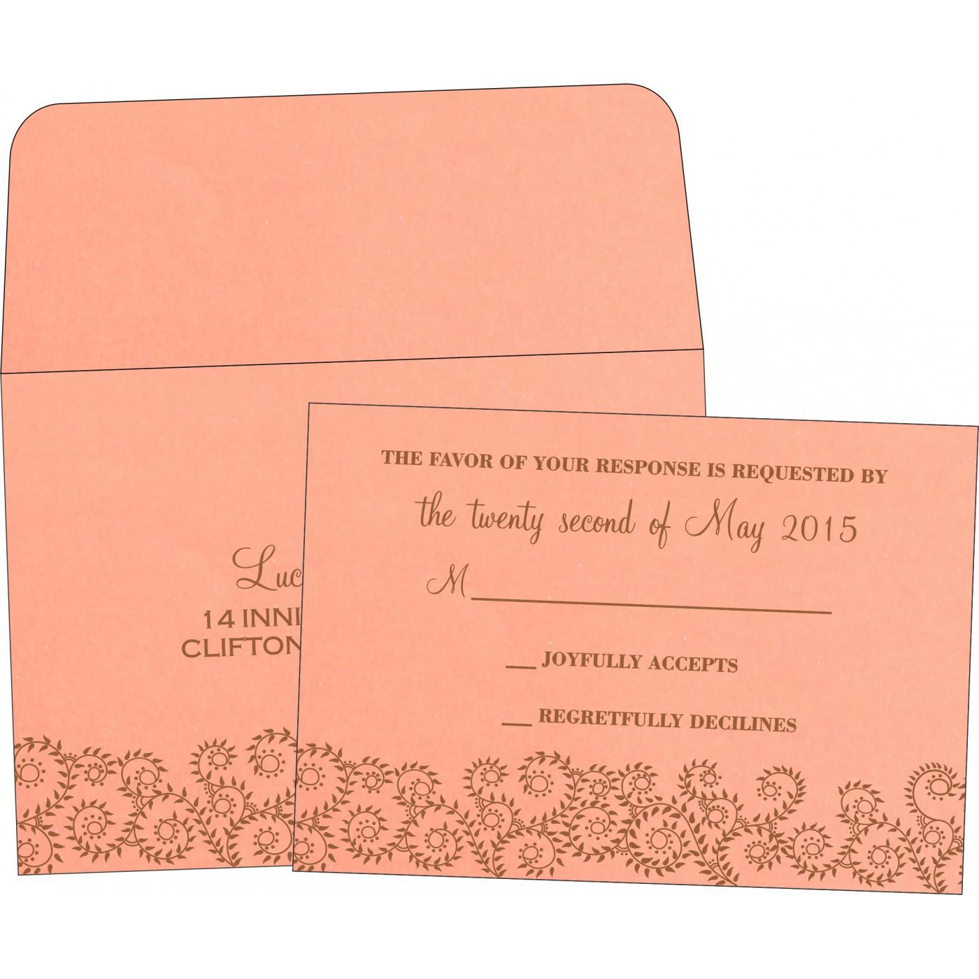 RSVP Cards : CRSVP-8217N - IndianWeddingCards