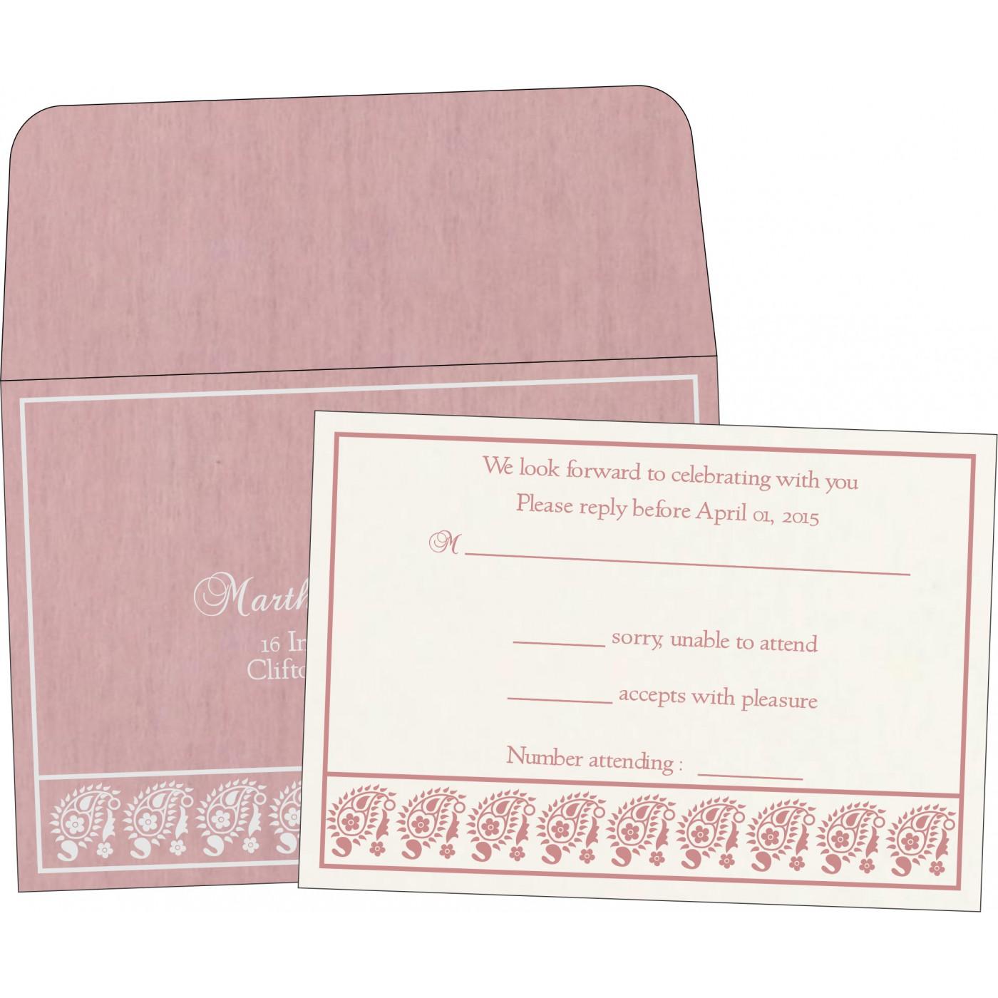 RSVP Cards : CRSVP-8218J - IndianWeddingCards