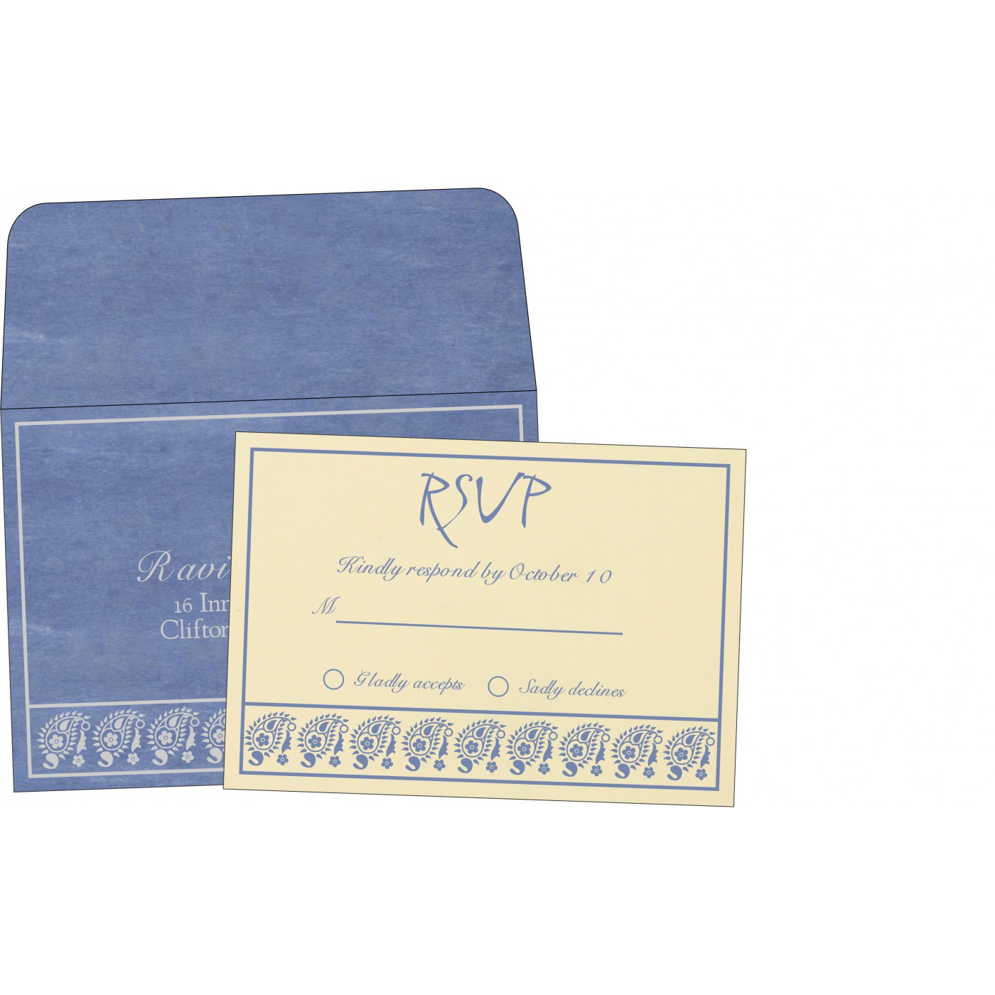RSVP Cards : CRSVP-8218K - IndianWeddingCards