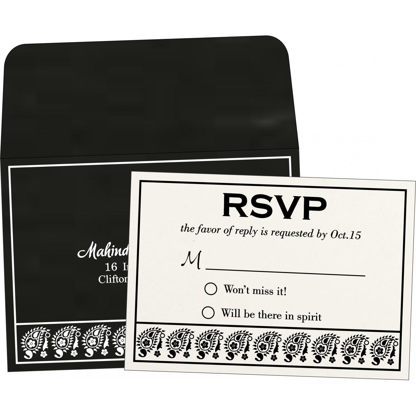 RSVP Cards : CRSVP-8218L - IndianWeddingCards