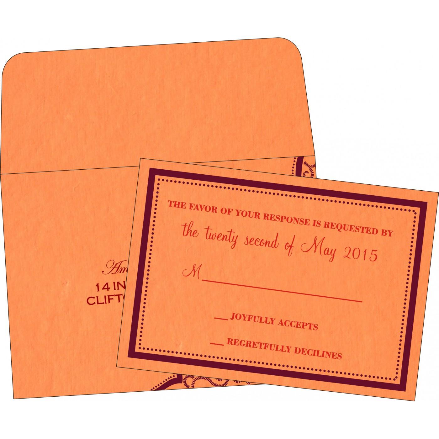 RSVP Cards : CRSVP-8219B - IndianWeddingCards