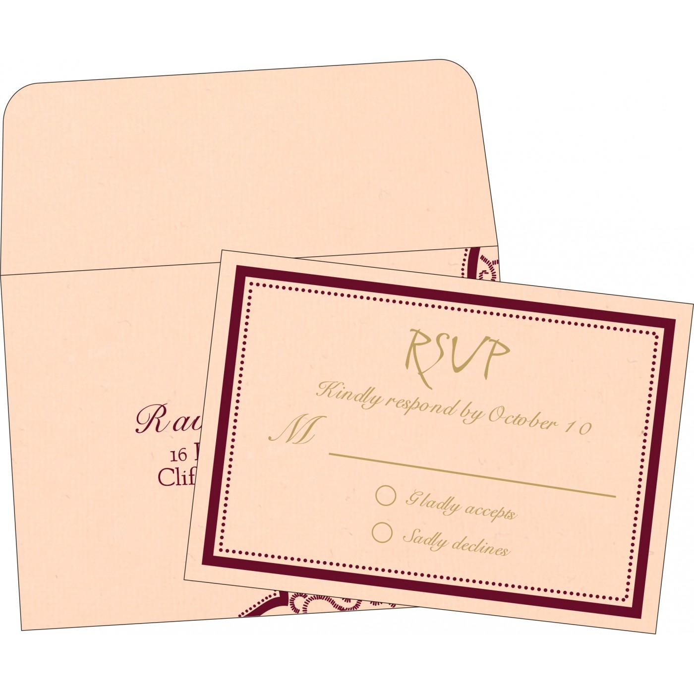 RSVP Cards : CRSVP-8219D - IndianWeddingCards
