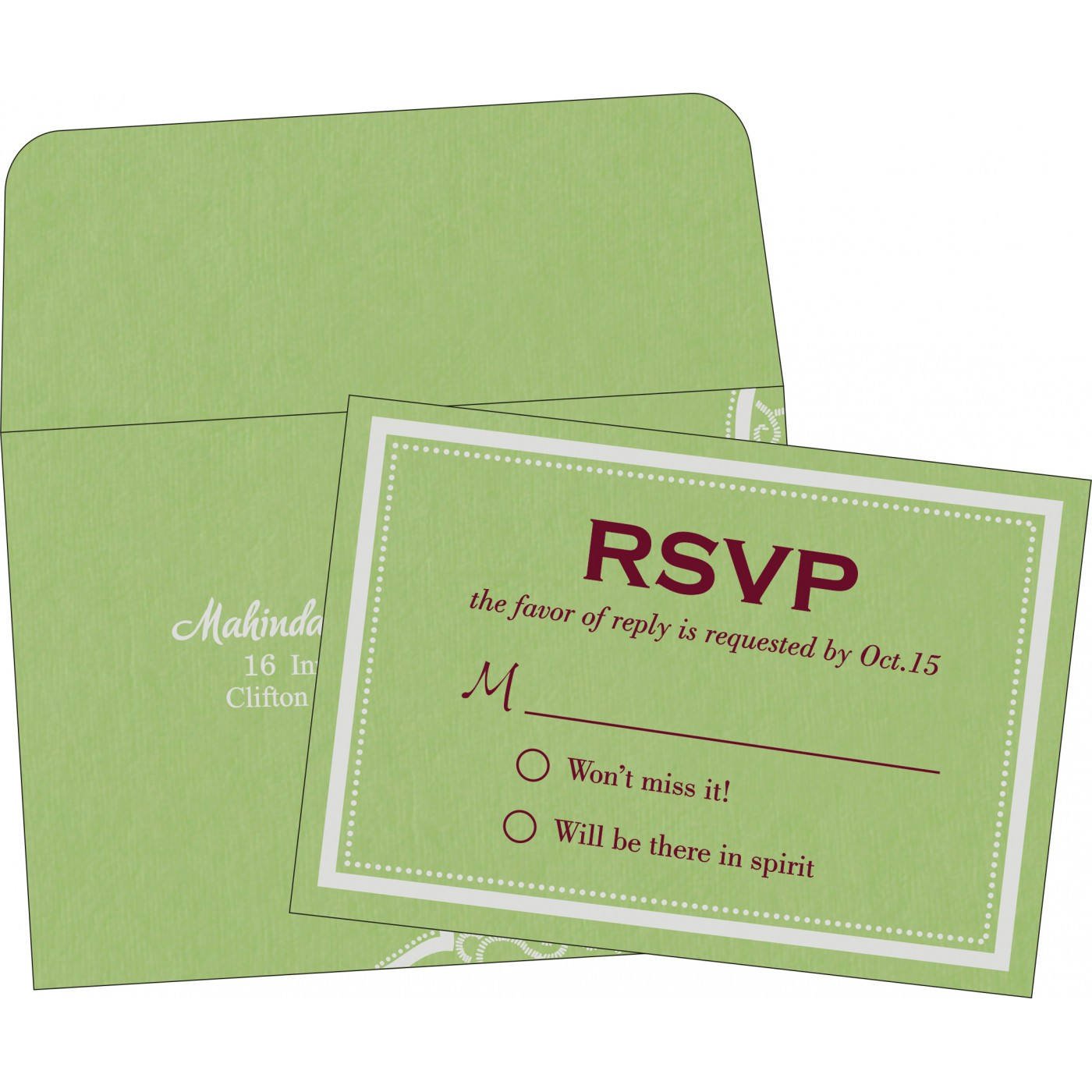 RSVP Cards : CRSVP-8219J - IndianWeddingCards