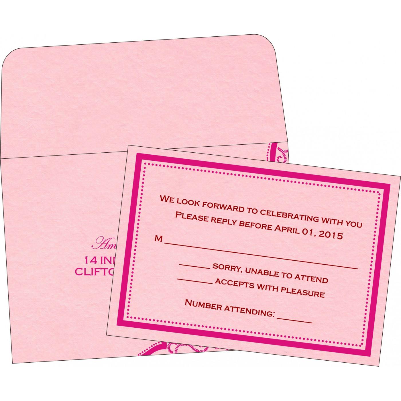 RSVP Cards : CRSVP-8219K - IndianWeddingCards