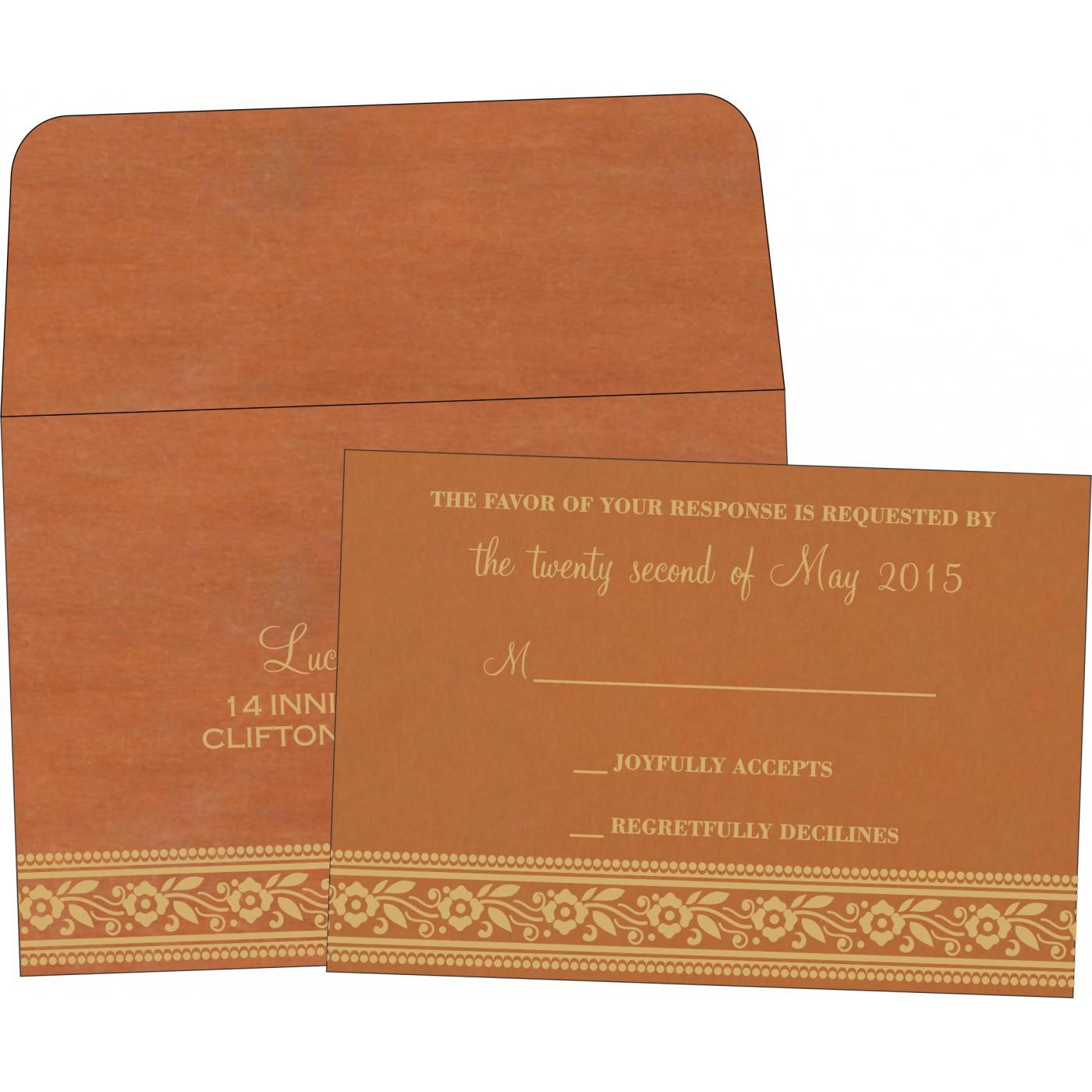 RSVP Cards : CRSVP-8220C - IndianWeddingCards