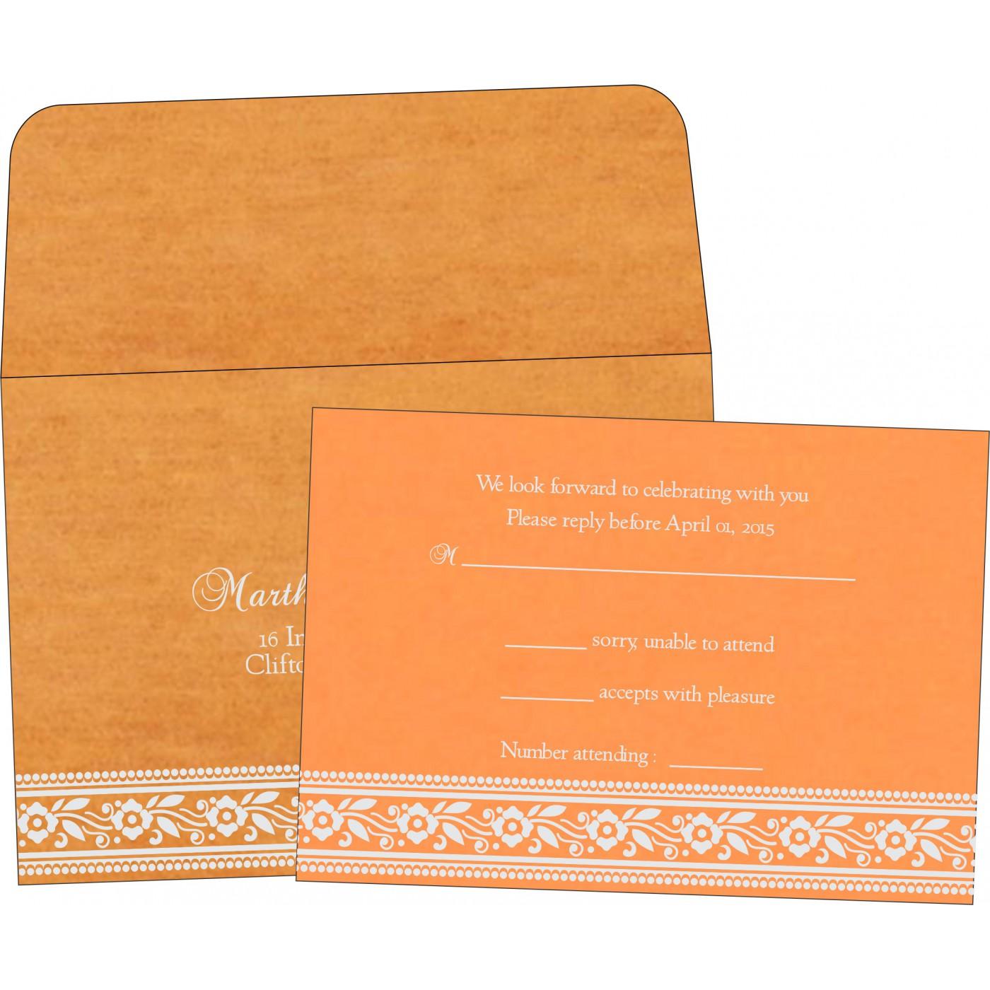 RSVP Cards : CRSVP-8220F - IndianWeddingCards