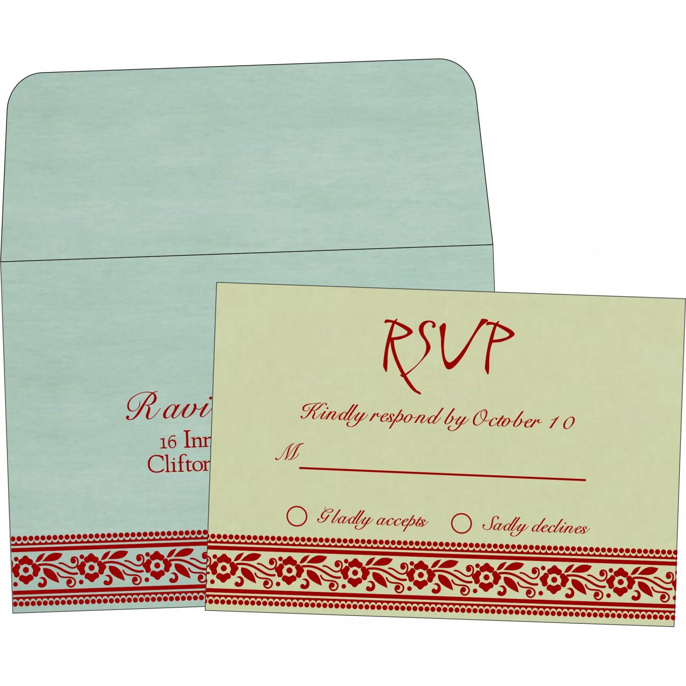 RSVP Cards : CRSVP-8220G - IndianWeddingCards