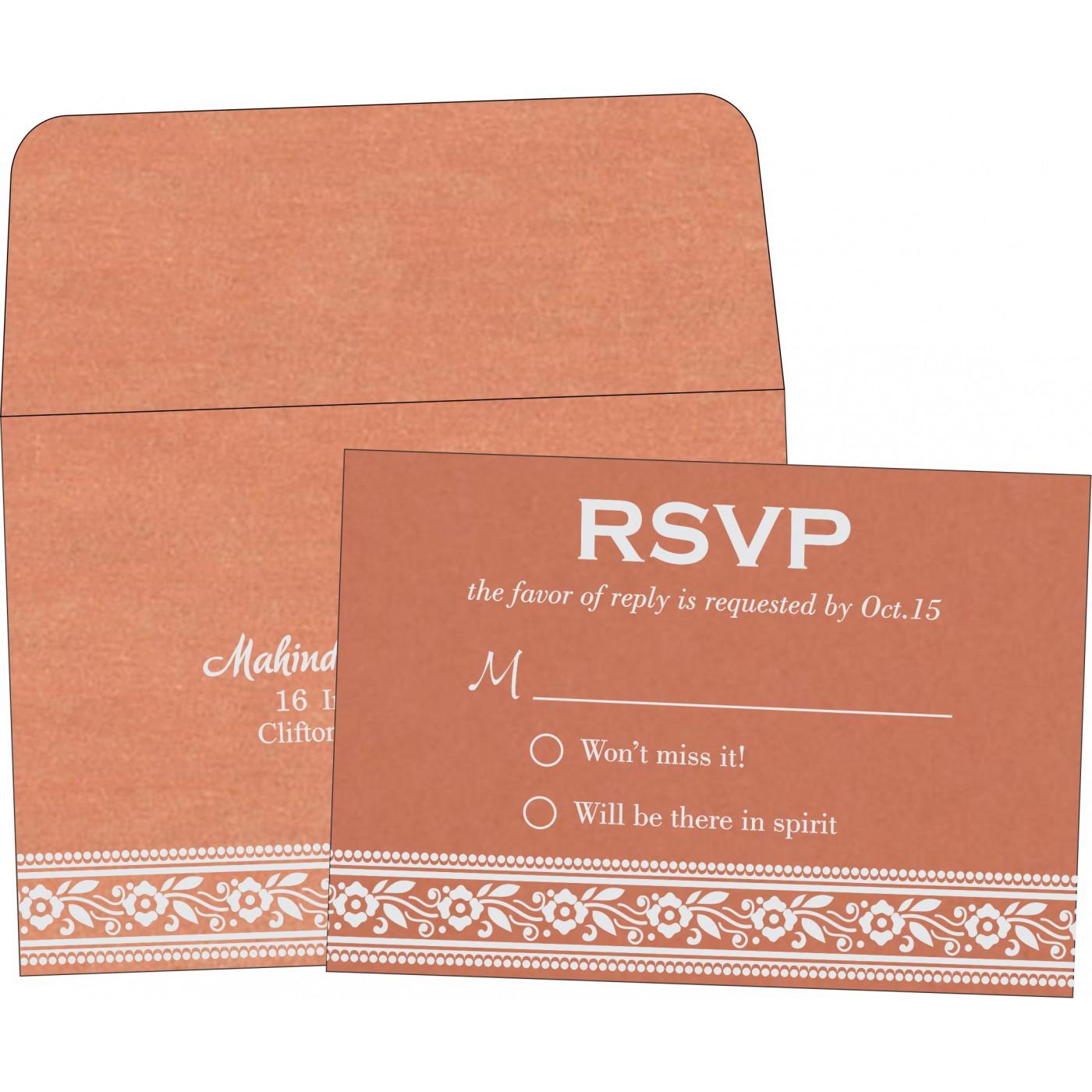 RSVP Cards : CRSVP-8220H - IndianWeddingCards
