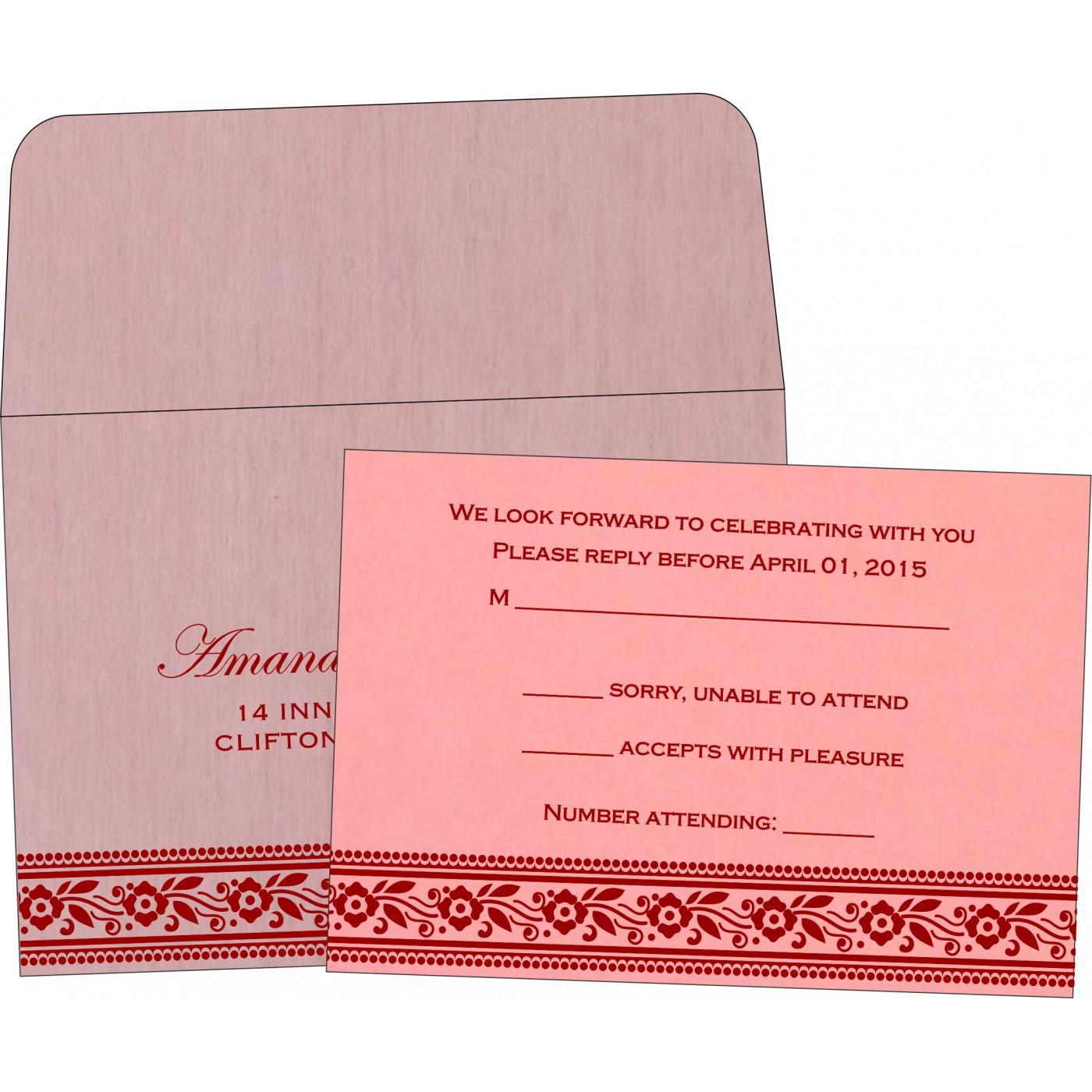 RSVP Cards : CRSVP-8220J - IndianWeddingCards