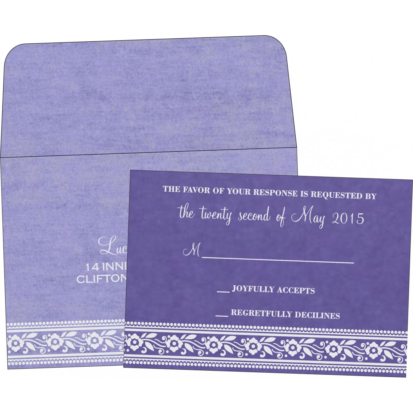 RSVP Cards : CRSVP-8220P - IndianWeddingCards