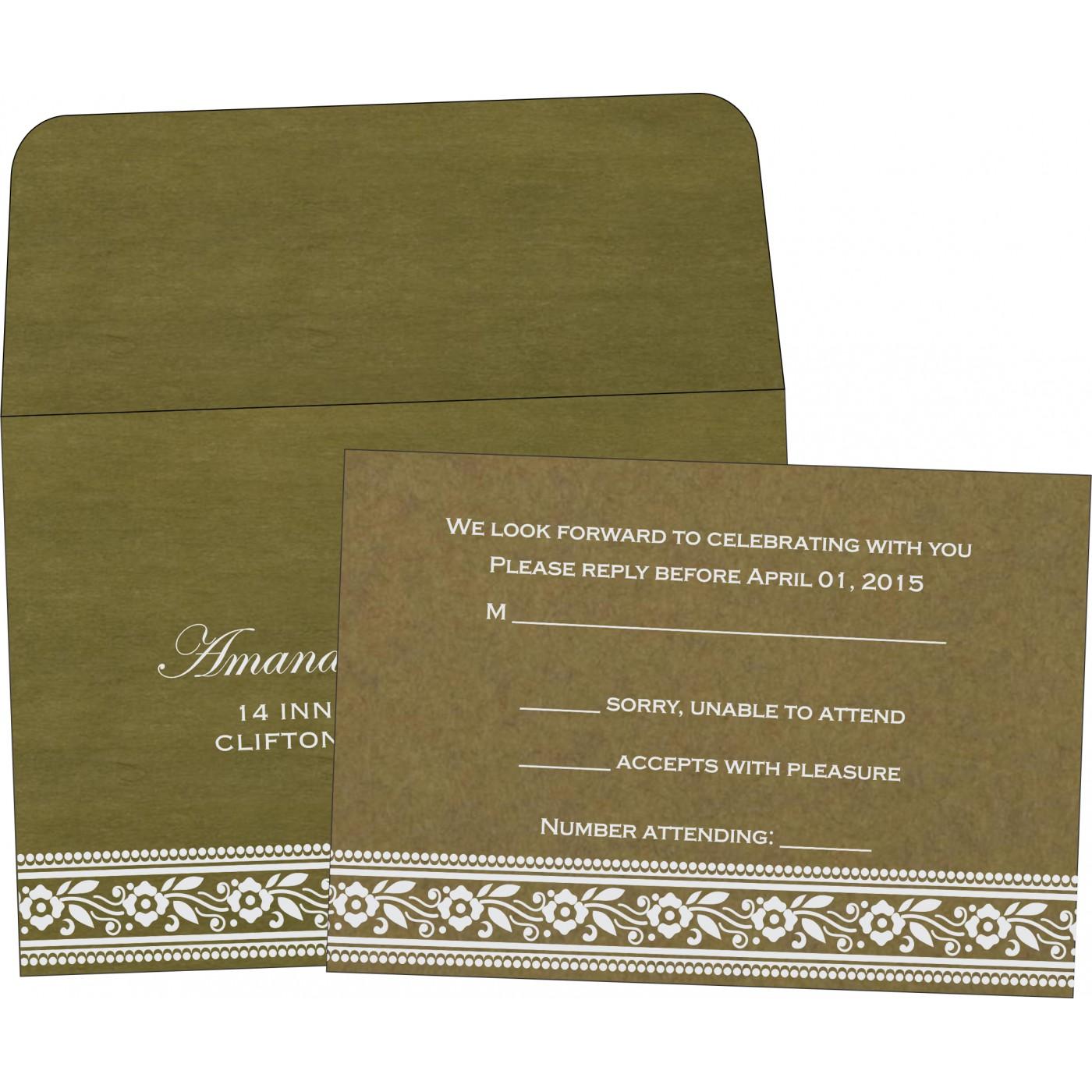 RSVP Cards : CRSVP-8220Q - IndianWeddingCards