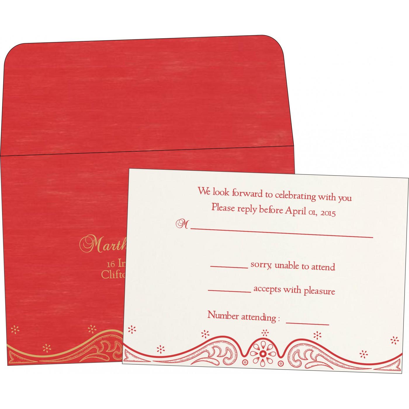 RSVP Cards : CRSVP-8221J - IndianWeddingCards