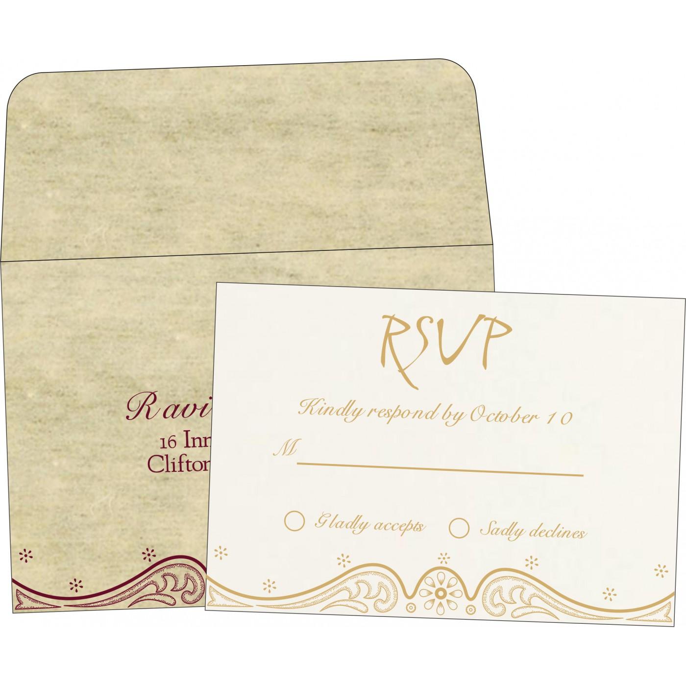 RSVP Cards : CRSVP-8221K - IndianWeddingCards