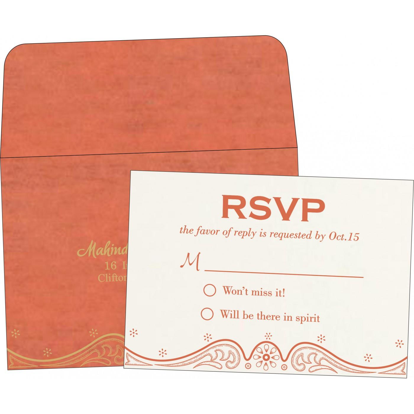 RSVP Cards : CRSVP-8221L - IndianWeddingCards