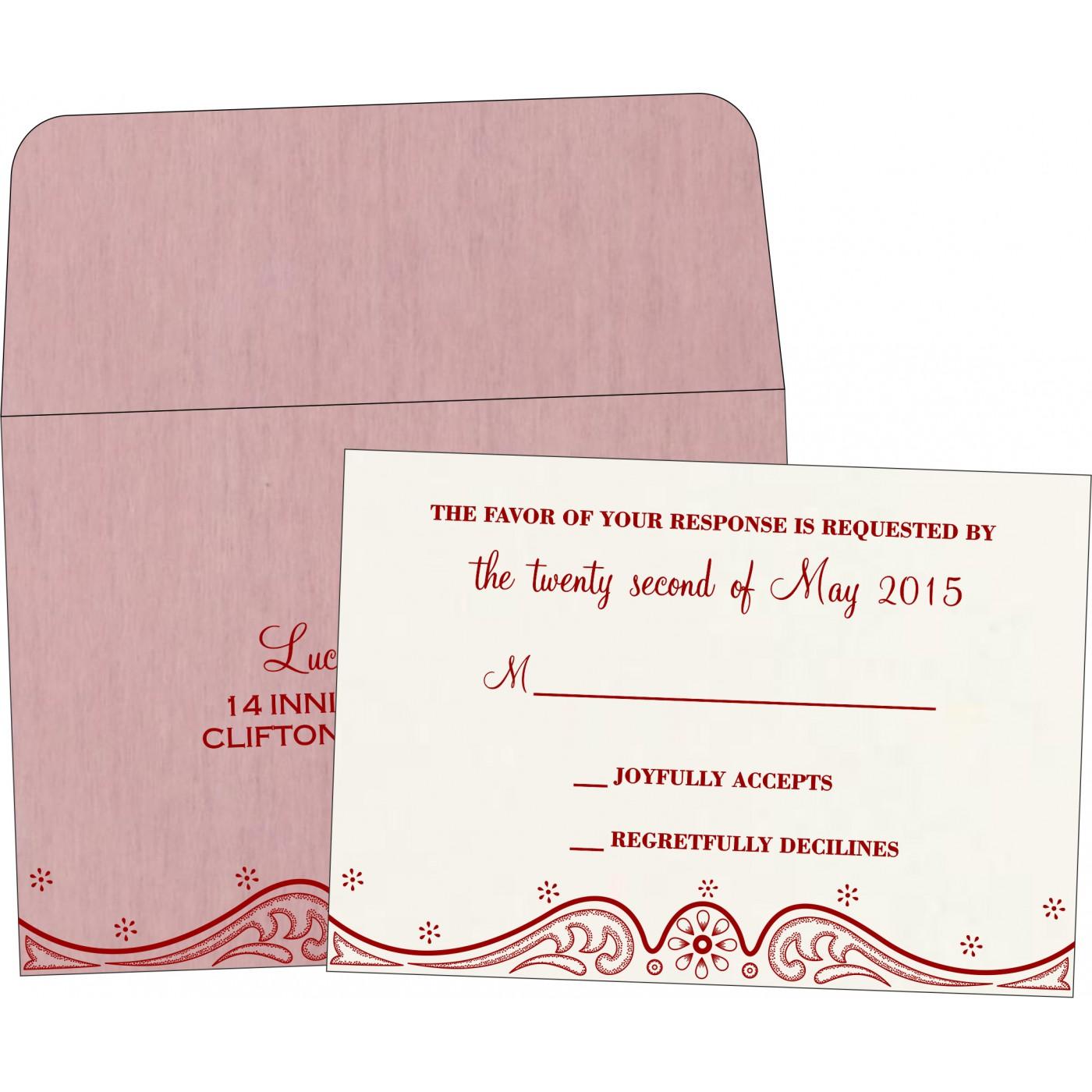 RSVP Cards : CRSVP-8221M - IndianWeddingCards