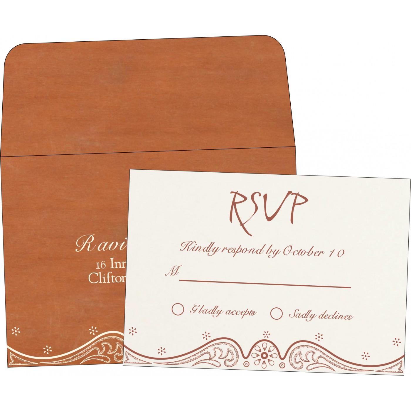 RSVP Cards : CRSVP-8221O - IndianWeddingCards