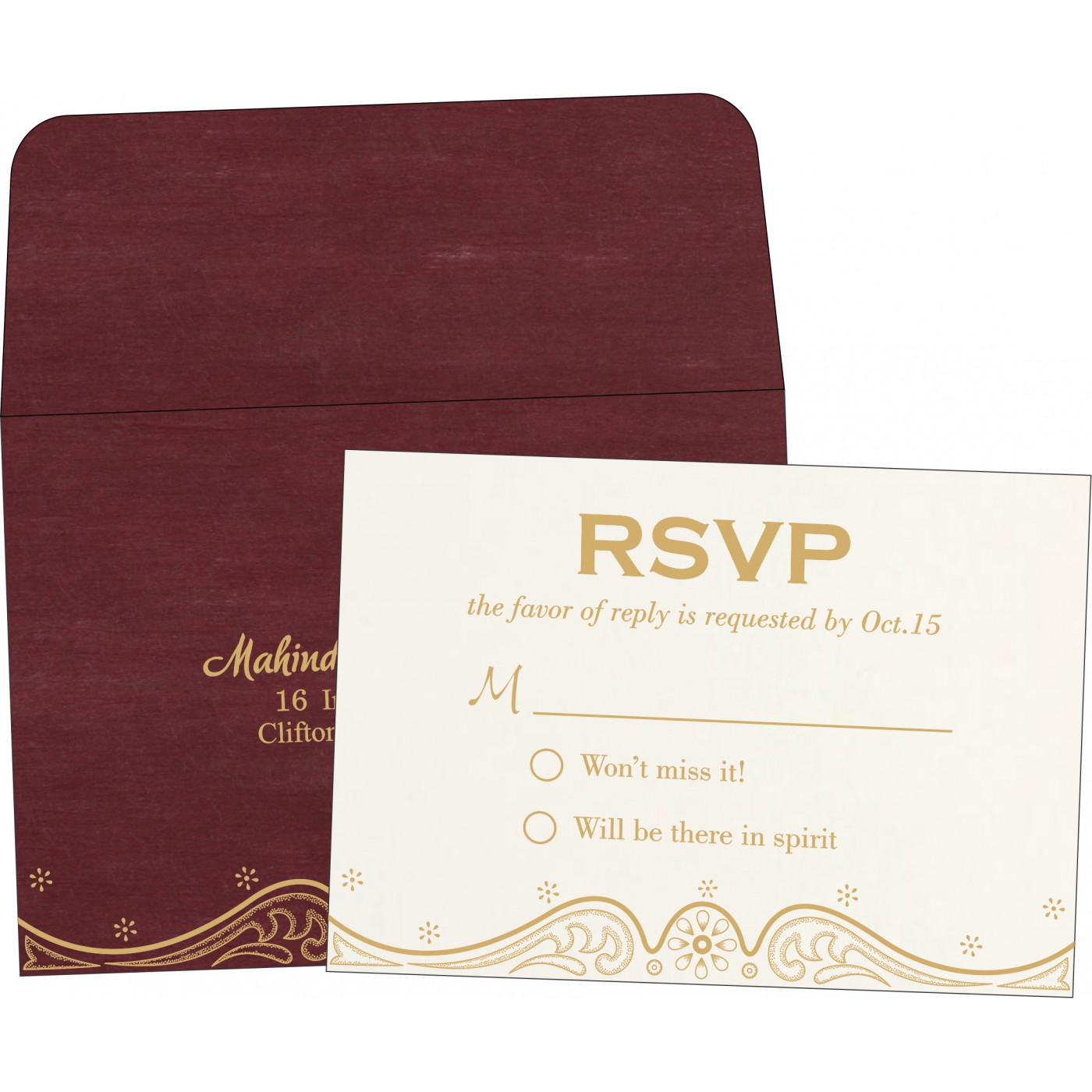 RSVP Cards : CRSVP-8221P - IndianWeddingCards