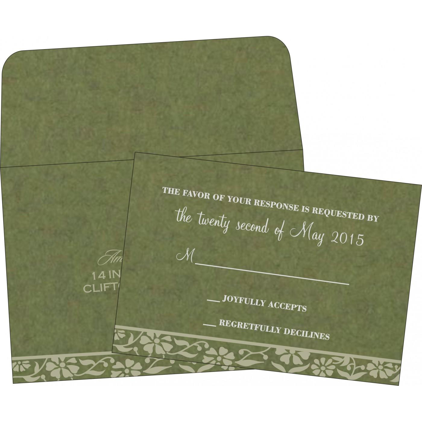 RSVP Cards : CRSVP-8222D - IndianWeddingCards