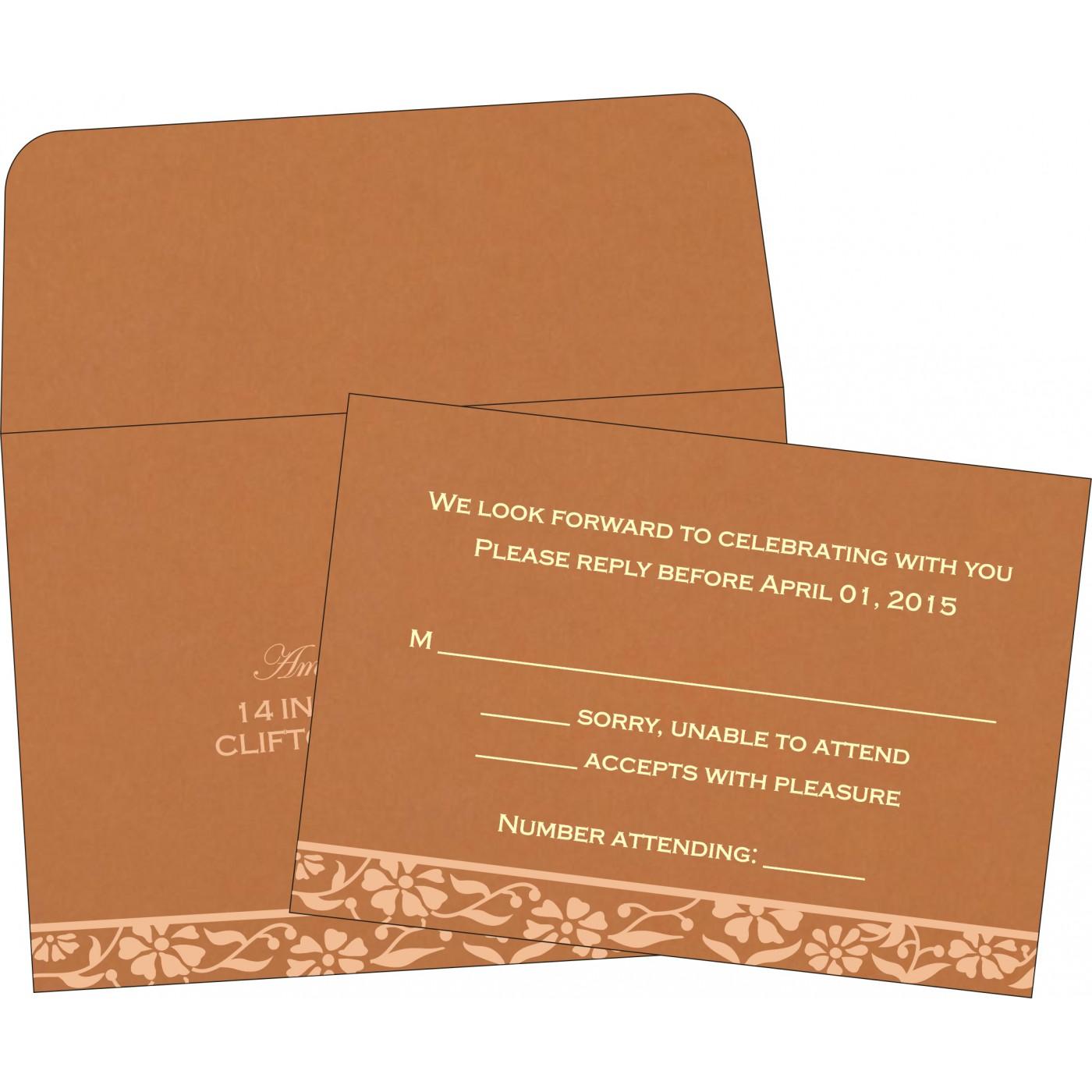 RSVP Cards : CRSVP-8222H - IndianWeddingCards