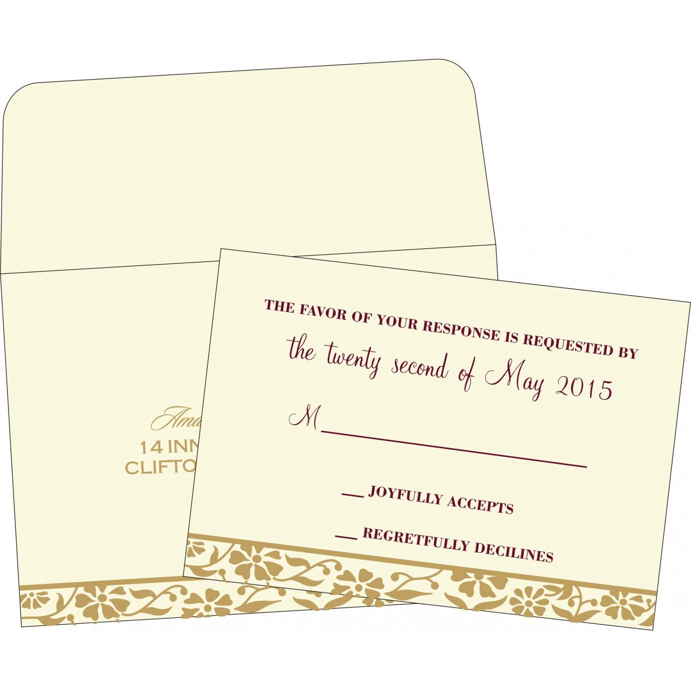 RSVP Cards : CRSVP-8222I - IndianWeddingCards