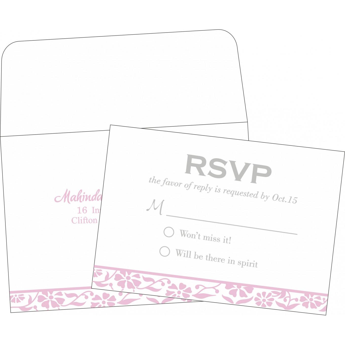 RSVP Cards : CRSVP-8222N - IndianWeddingCards