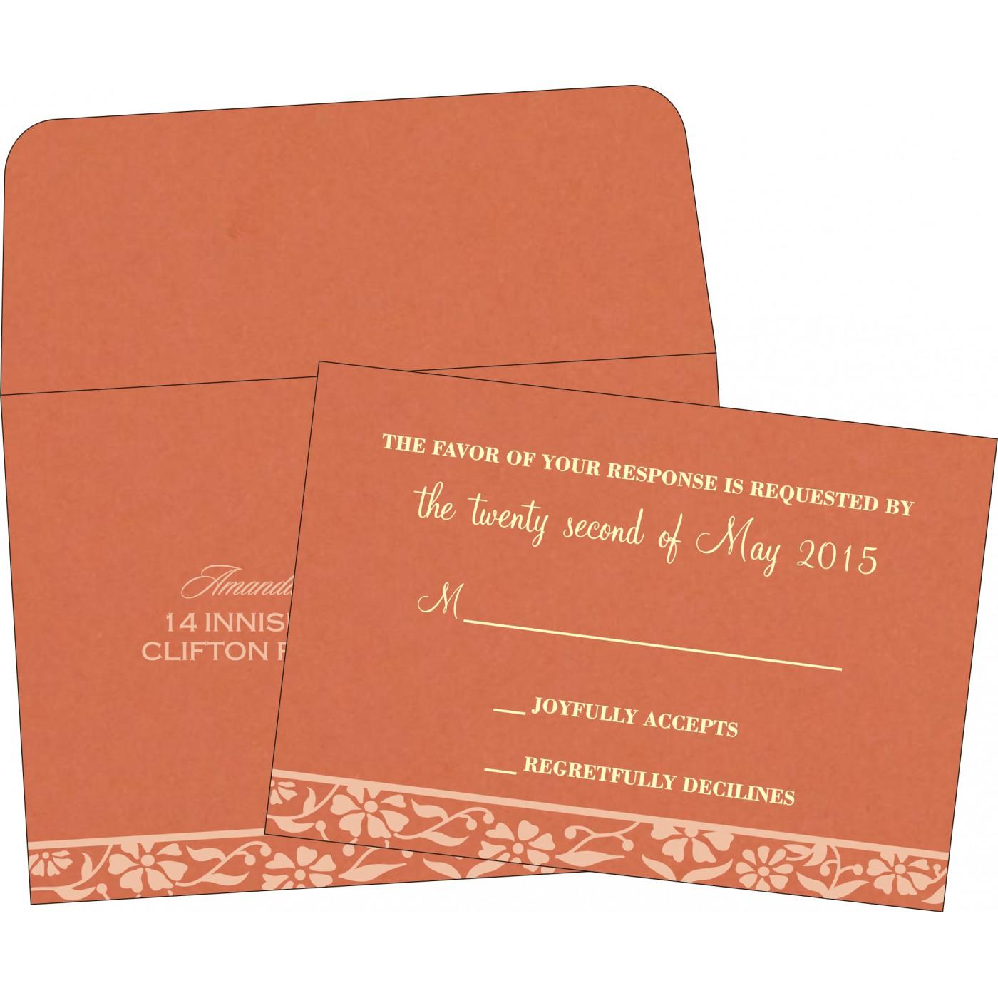 RSVP Cards : CRSVP-8222P - IndianWeddingCards