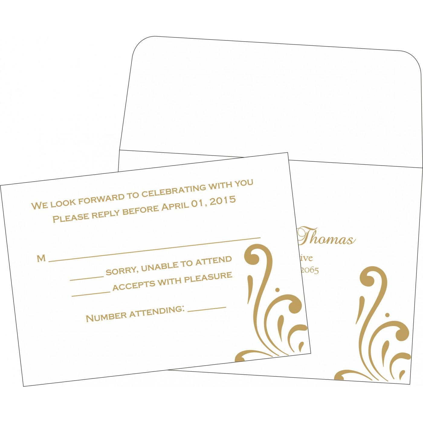 RSVP Cards : CRSVP-8223D - IndianWeddingCards