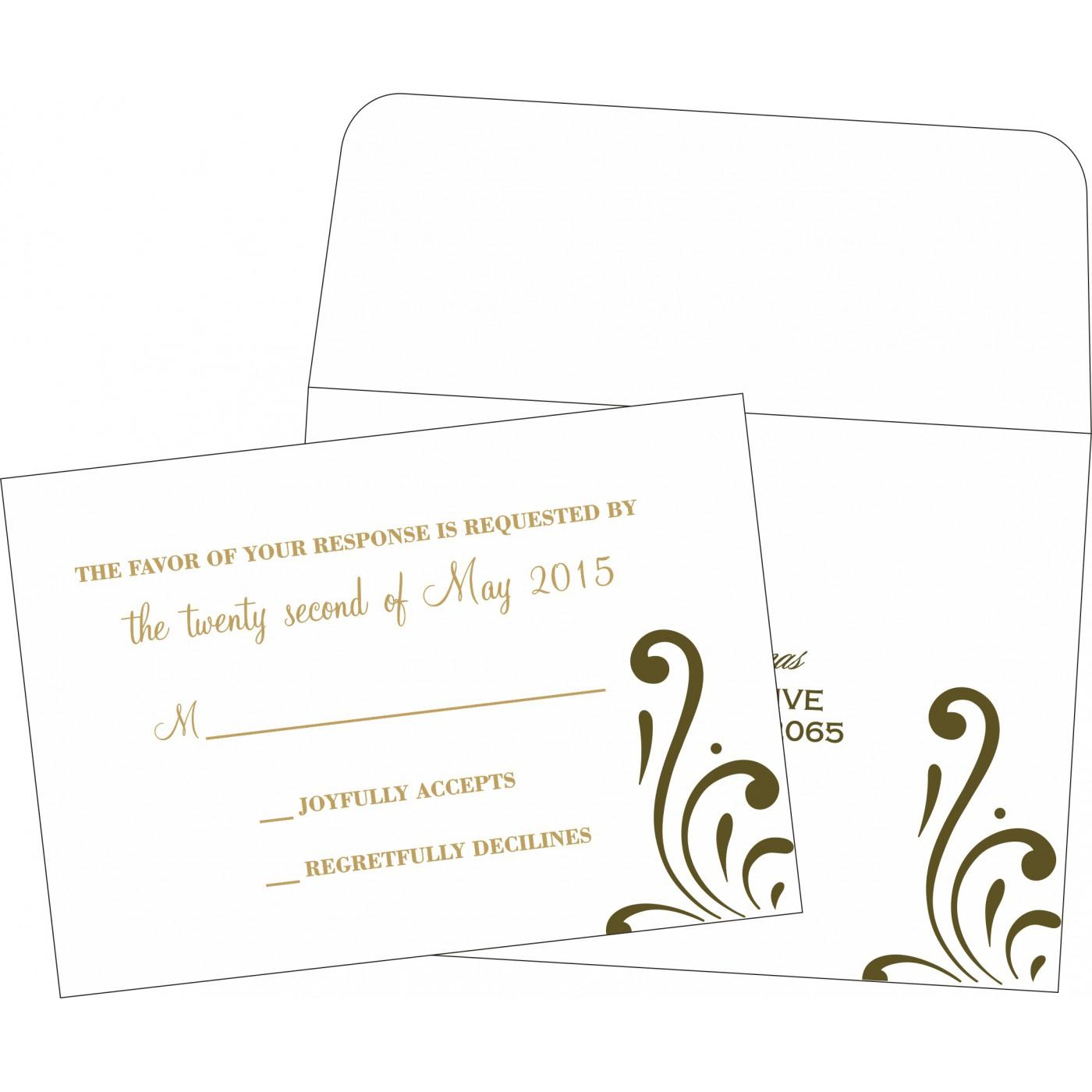 RSVP Cards : CRSVP-8223I - IndianWeddingCards