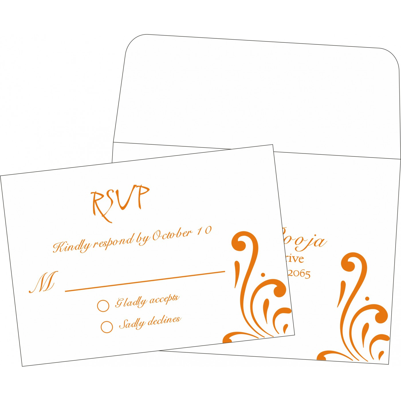 RSVP Cards : CRSVP-8223K - IndianWeddingCards