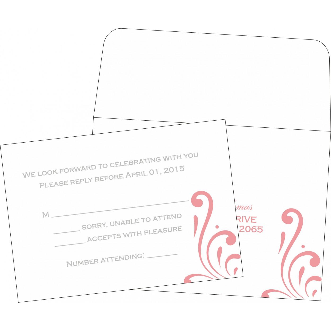 RSVP Cards : CRSVP-8223N - IndianWeddingCards