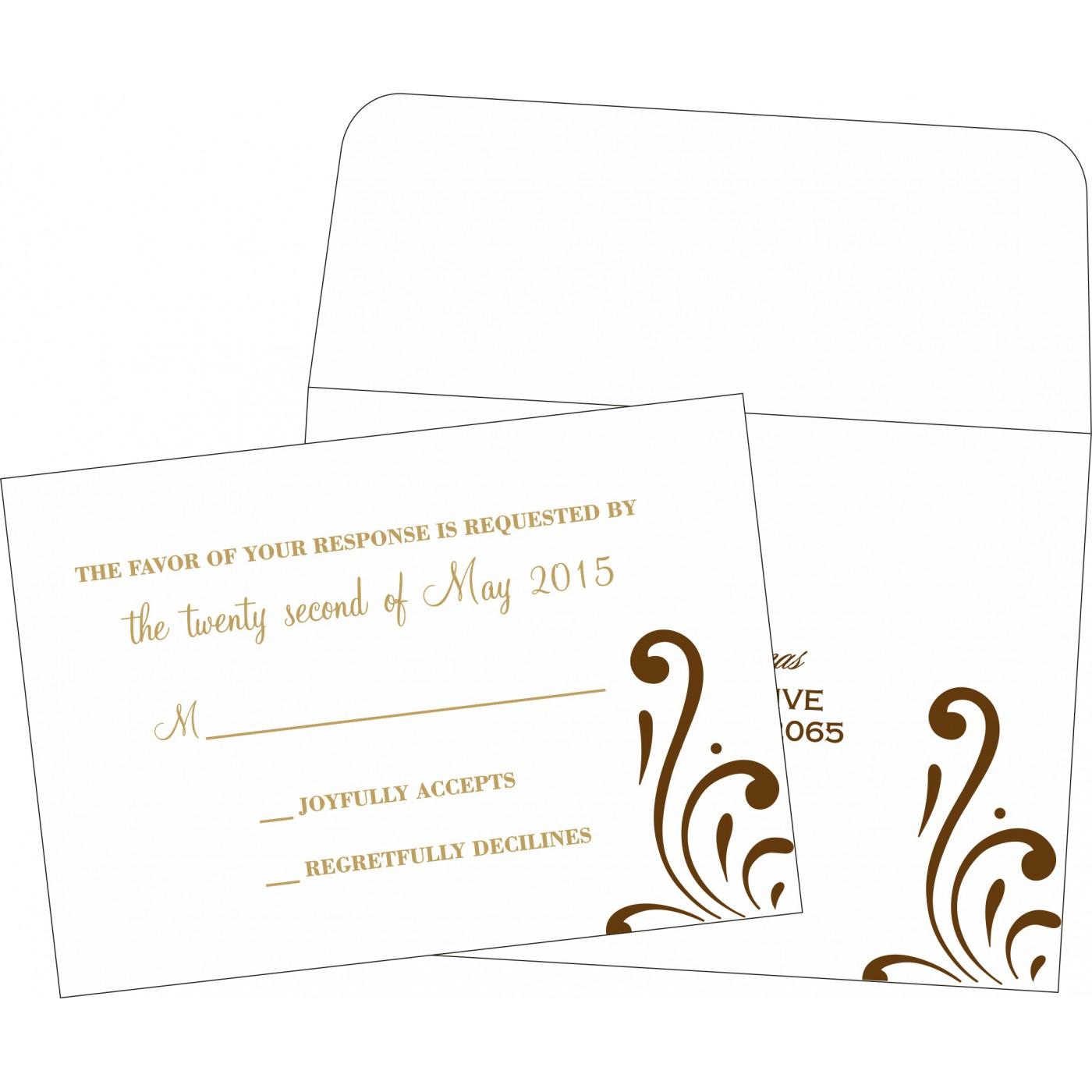 RSVP Cards : CRSVP-8223O - IndianWeddingCards