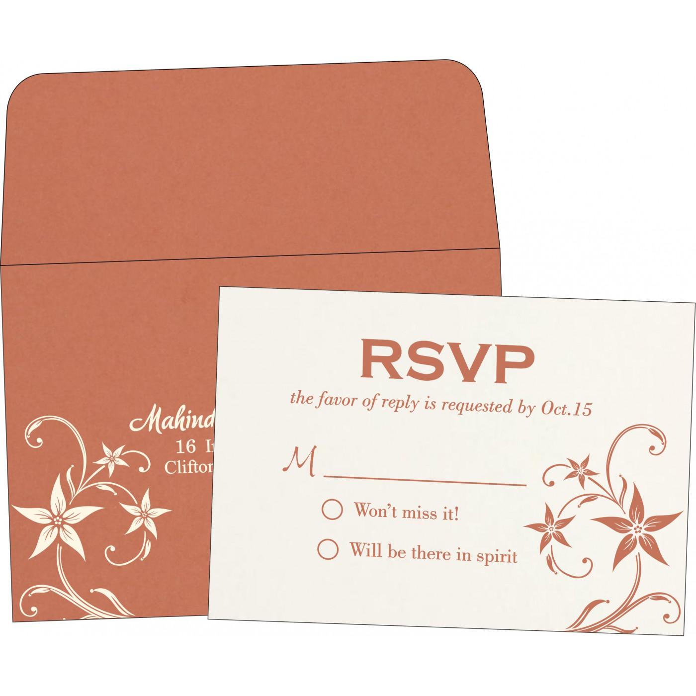 RSVP Cards : CRSVP-8225G - IndianWeddingCards