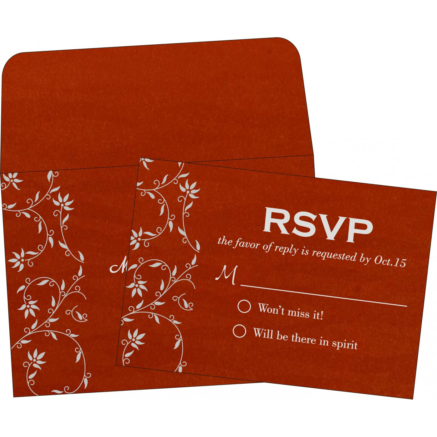 RSVP Cards : CRSVP-8226I - IndianWeddingCards
