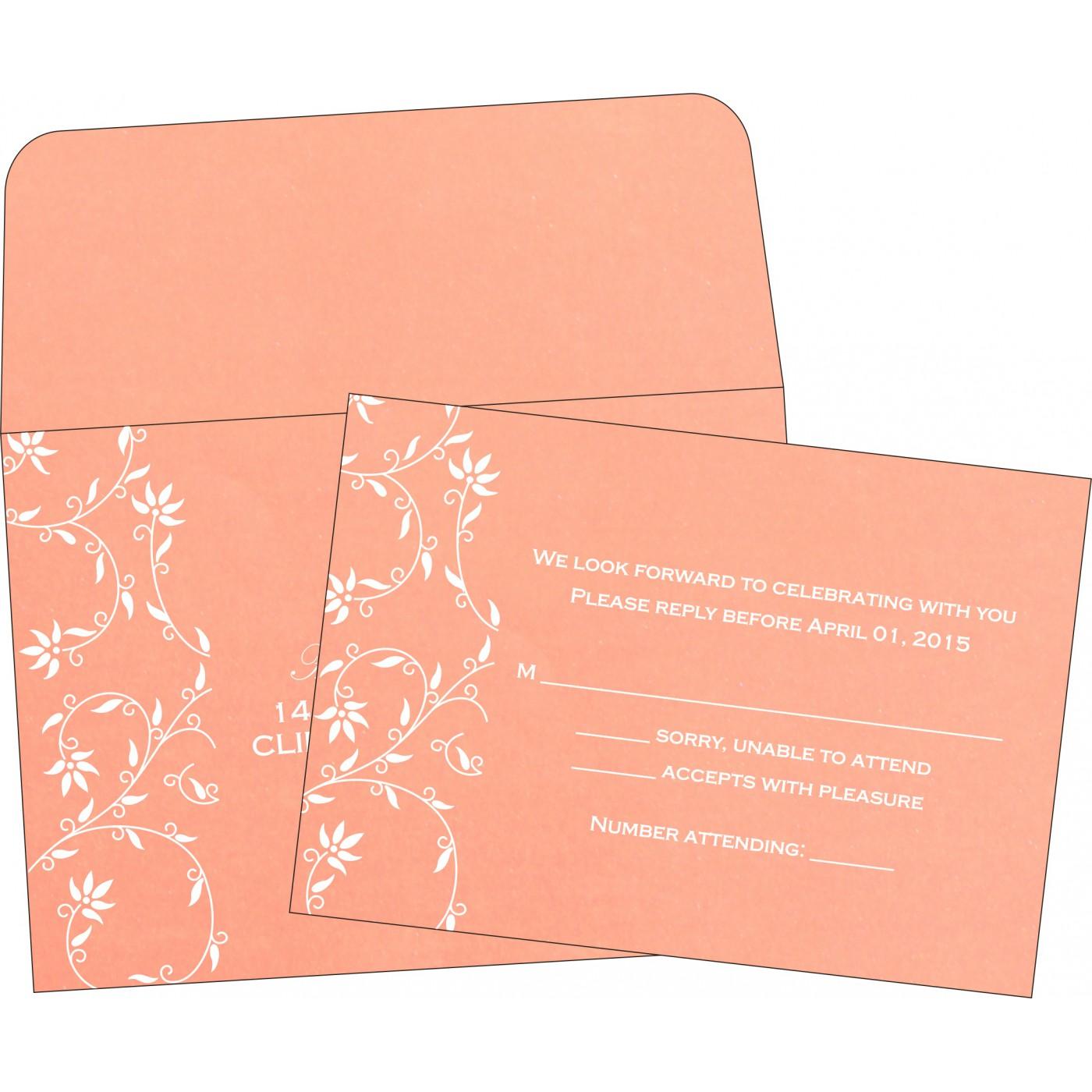 RSVP Cards : CRSVP-8226K - IndianWeddingCards