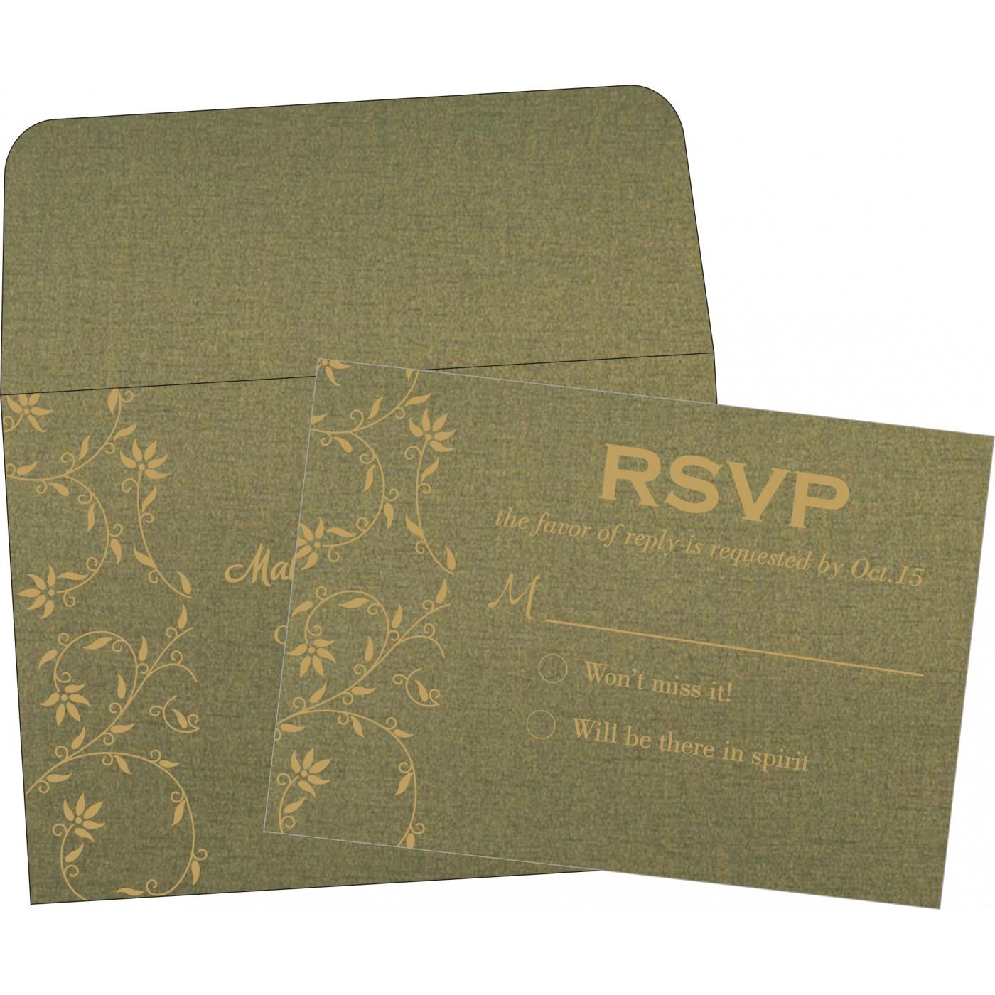 RSVP Cards : CRSVP-8226Q - IndianWeddingCards