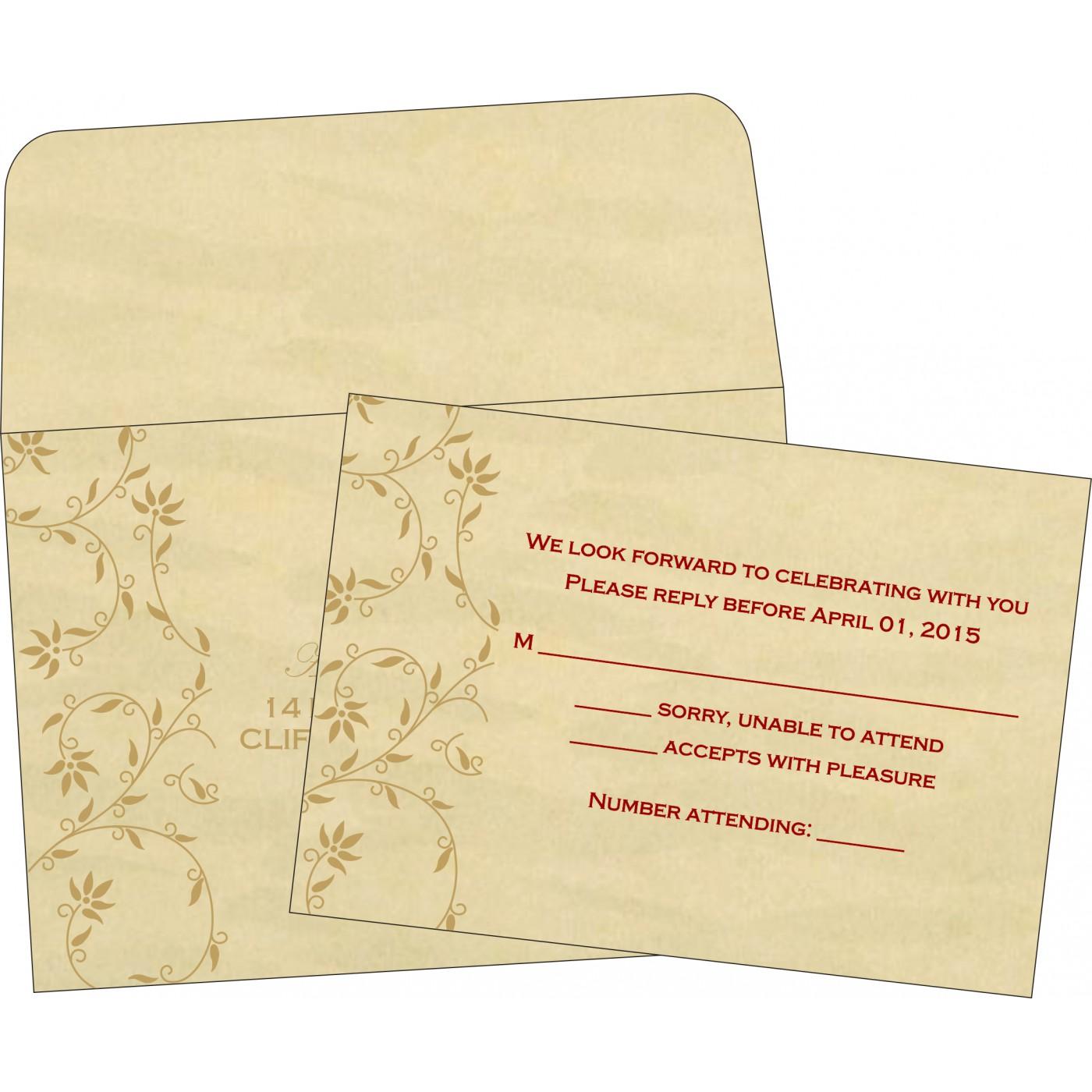 RSVP Cards : CRSVP-8226S - IndianWeddingCards