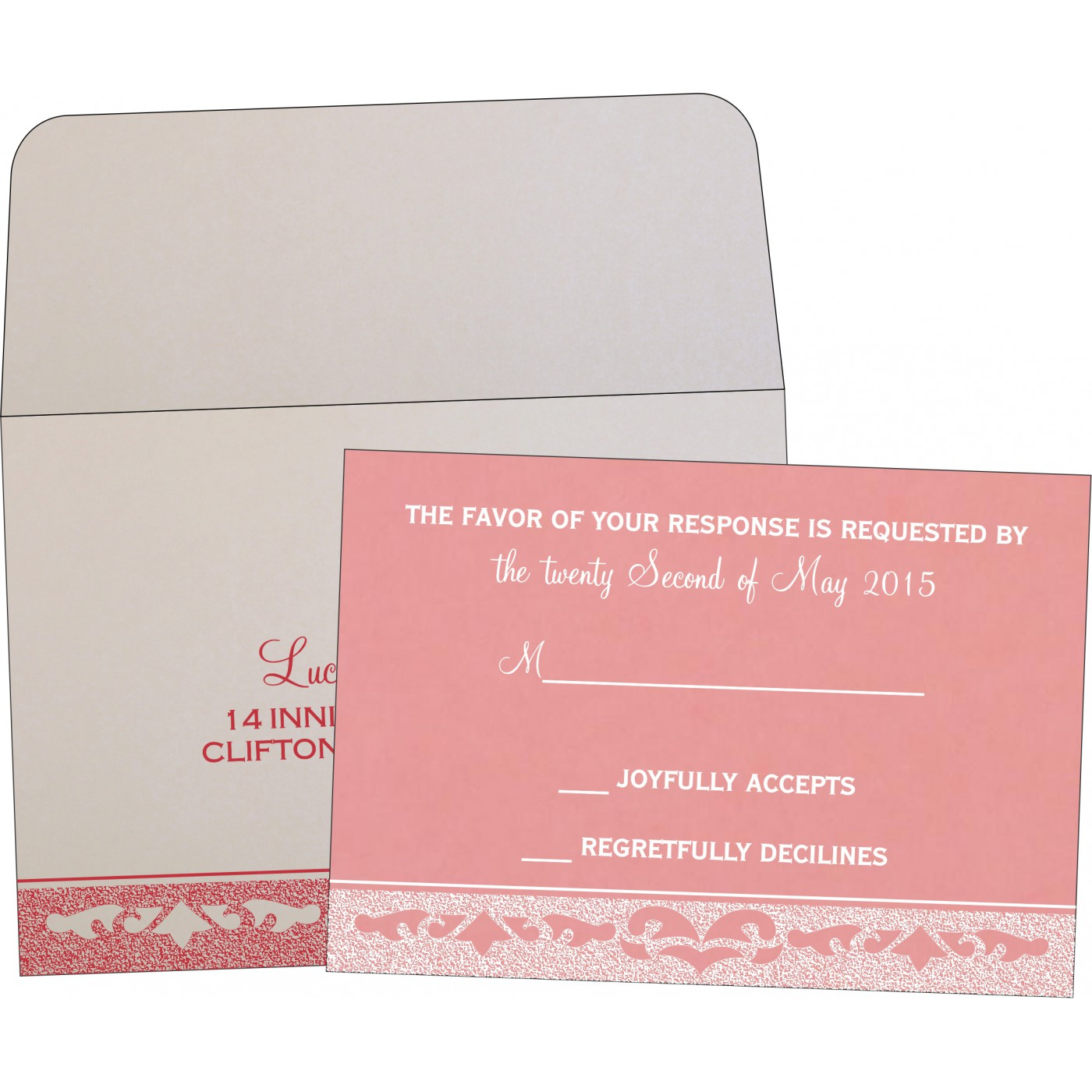 RSVP Cards : CRSVP-8227M - IndianWeddingCards