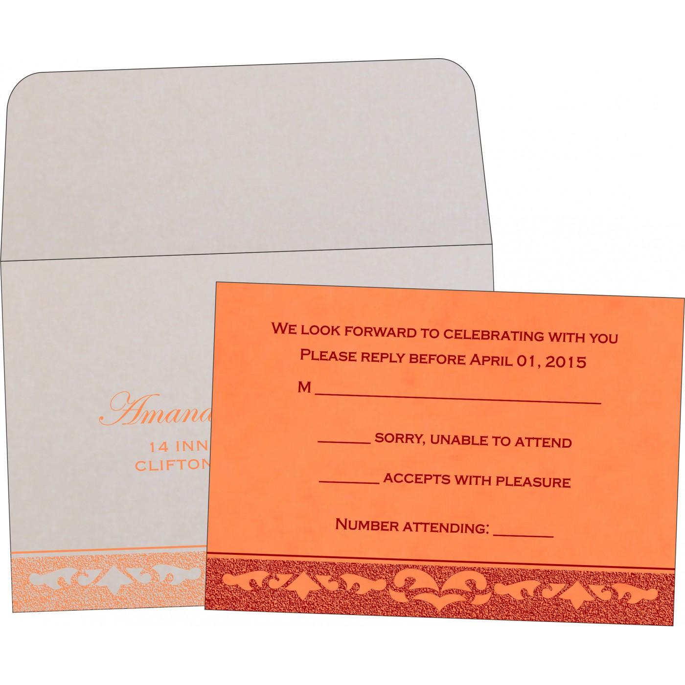 RSVP Cards : CRSVP-8227N - IndianWeddingCards