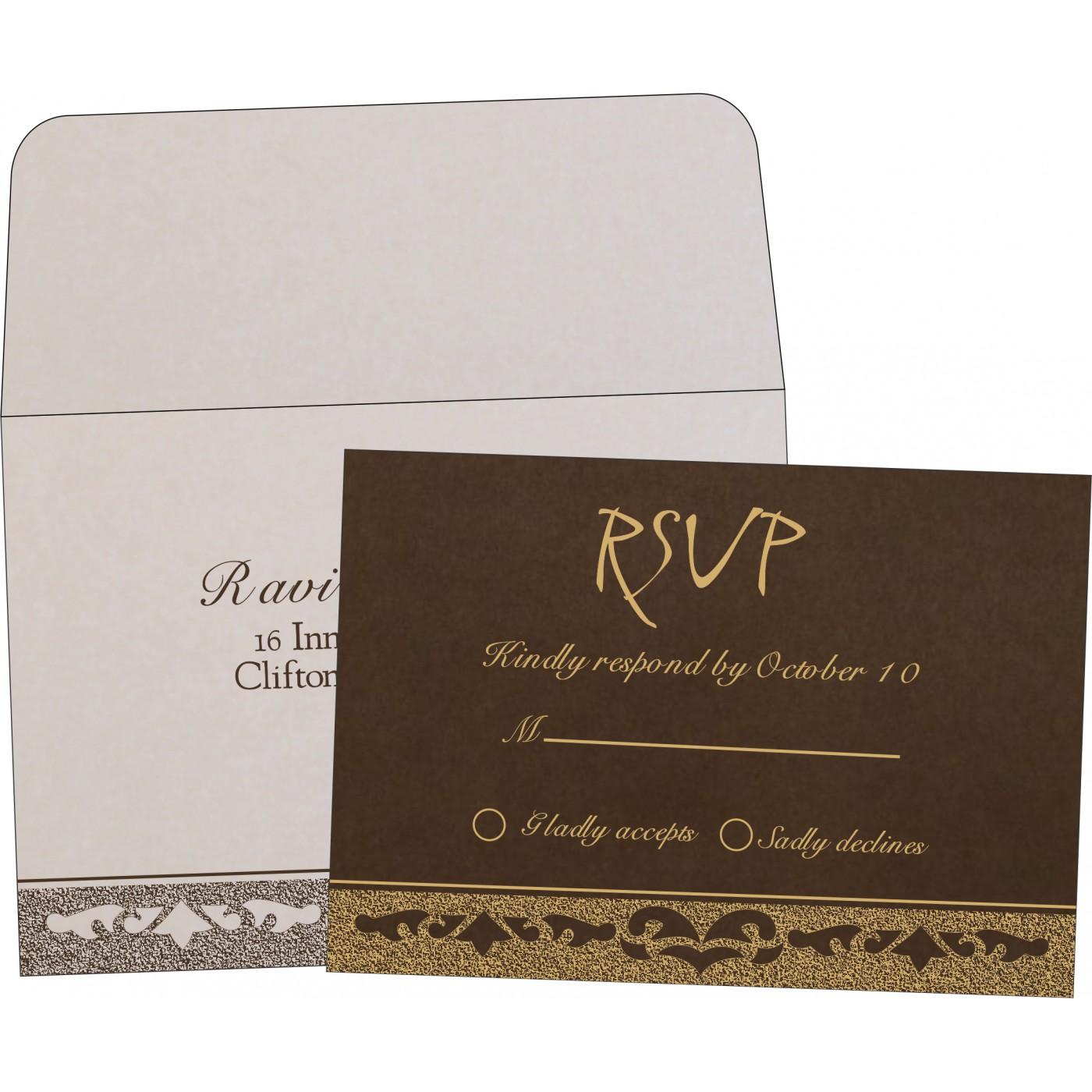 RSVP Cards : CRSVP-8227P - IndianWeddingCards