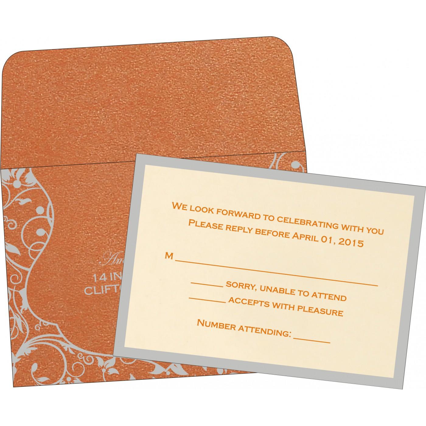 RSVP Cards : CRSVP-8229I - IndianWeddingCards