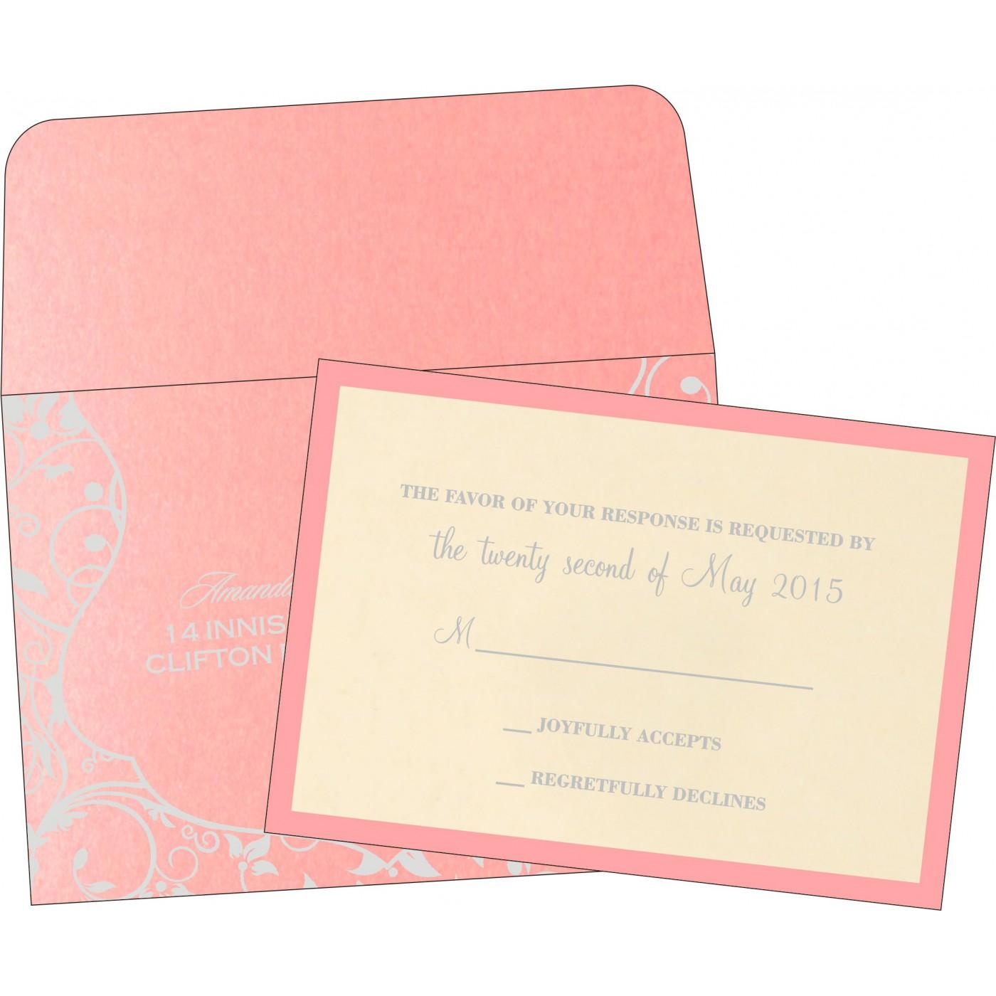 RSVP Cards : CRSVP-8229Q - IndianWeddingCards