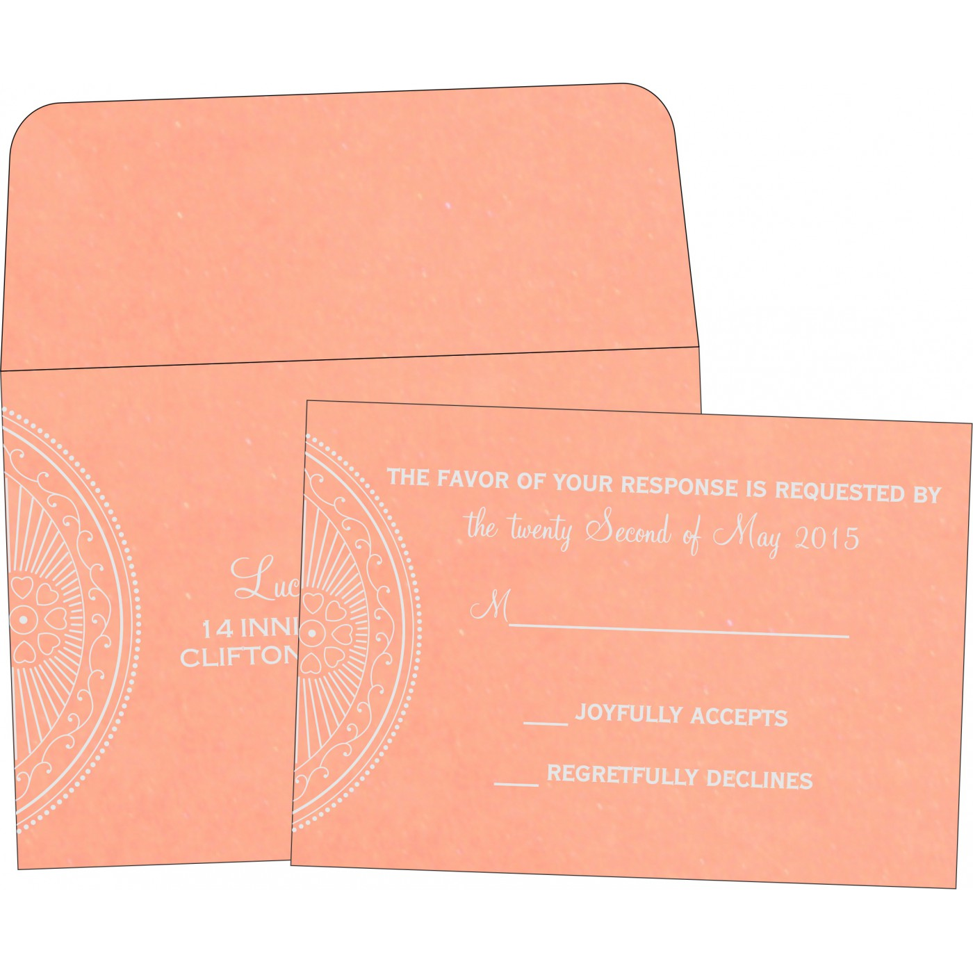 RSVP Cards : CRSVP-8230A - IndianWeddingCards