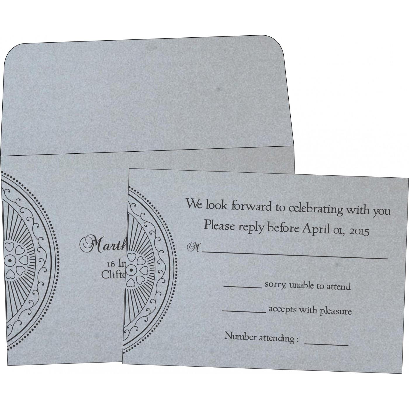 RSVP Cards : CRSVP-8230F - IndianWeddingCards