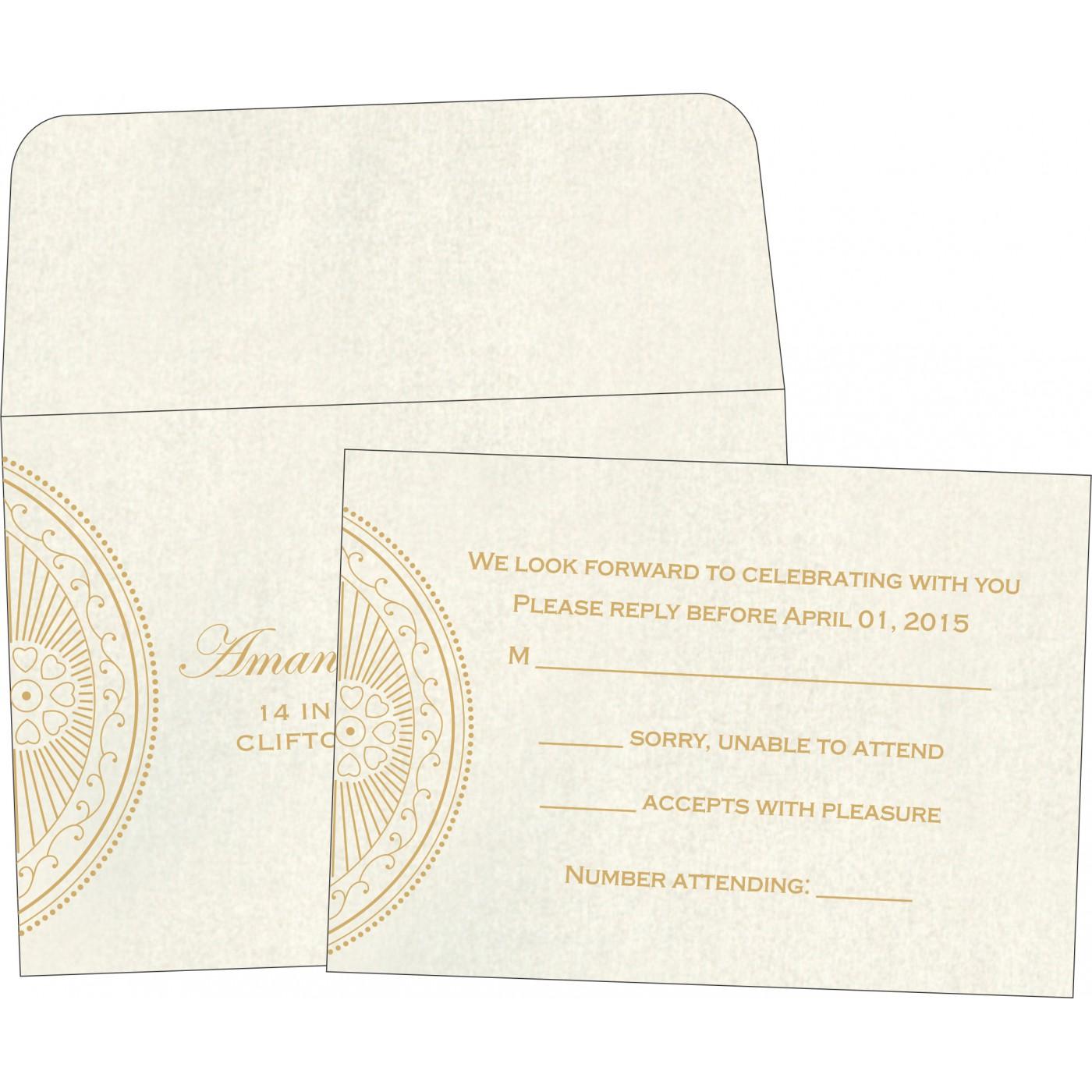 RSVP Cards : CRSVP-8230O - IndianWeddingCards
