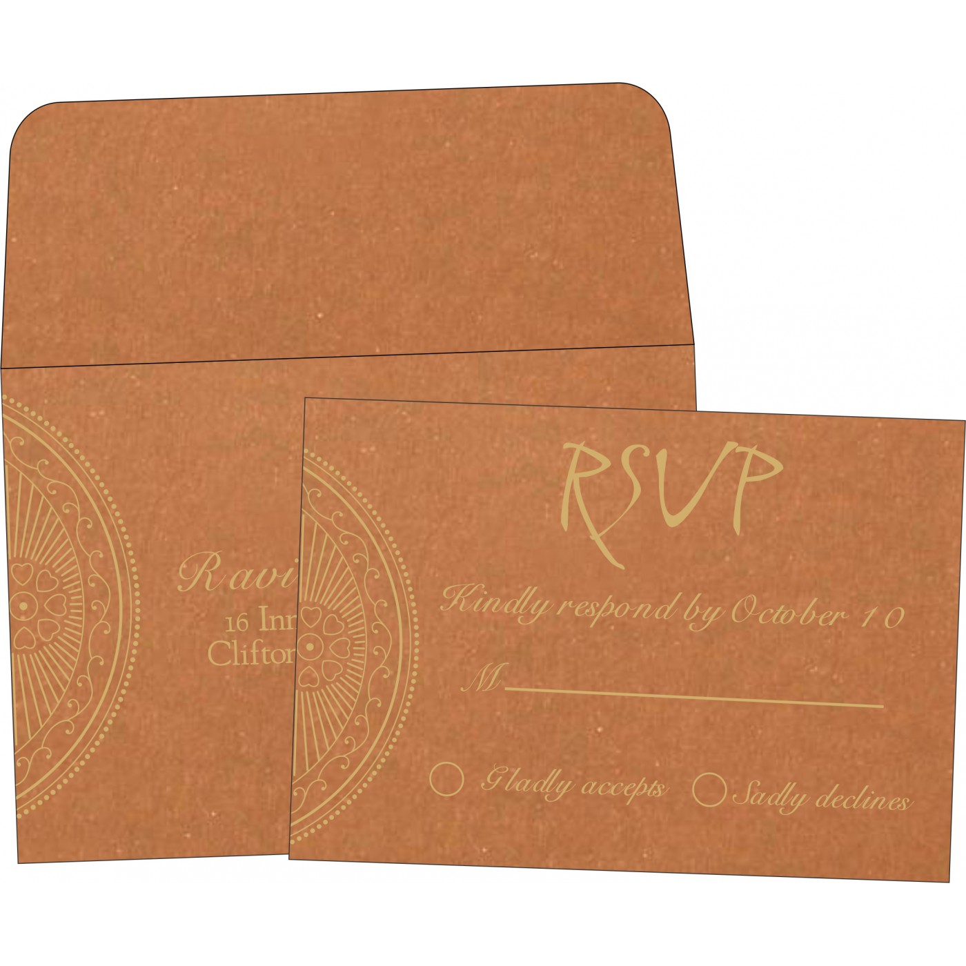 RSVP Cards : CRSVP-8230Q - IndianWeddingCards