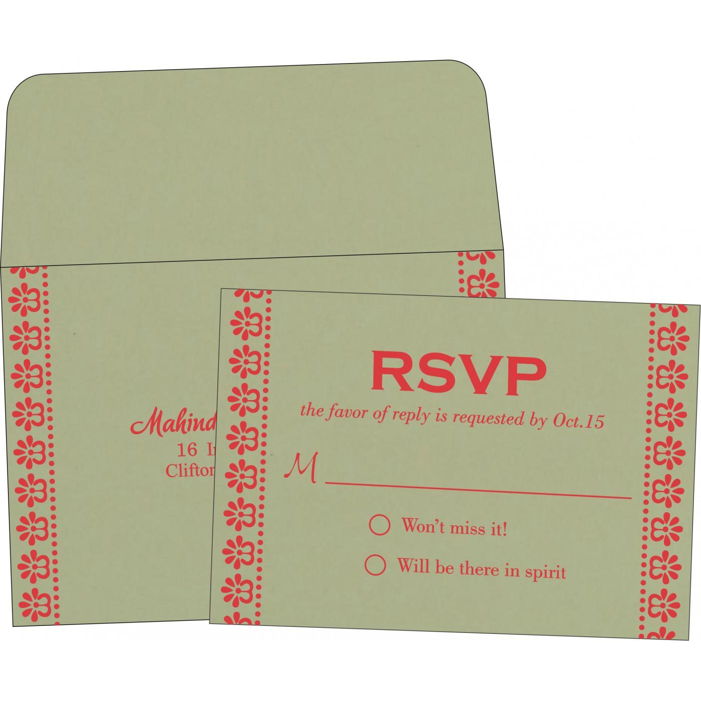 RSVP Cards : CRSVP-8231G - IndianWeddingCards